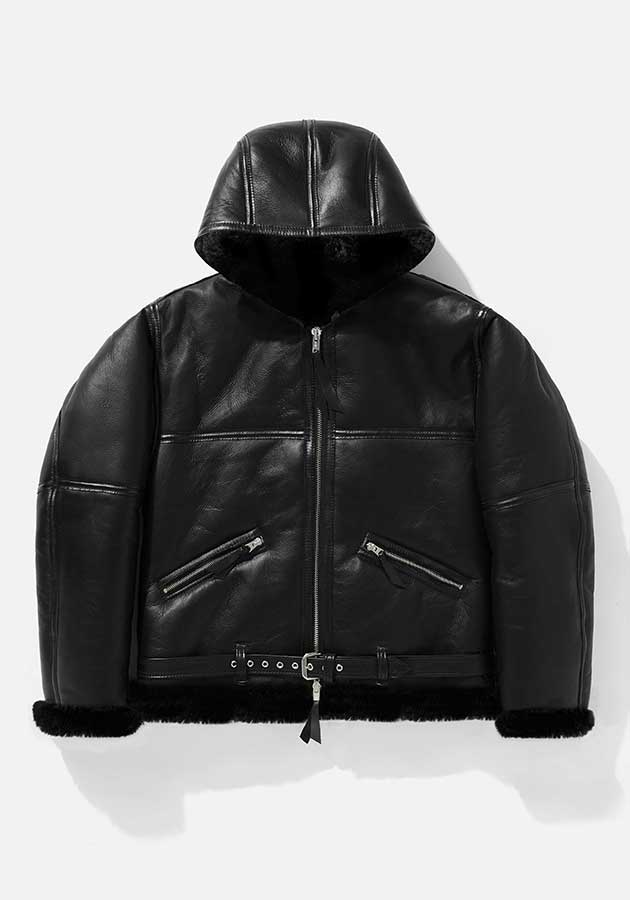 MKI HOODED SHEEPSKIN FLIGHT JACKET