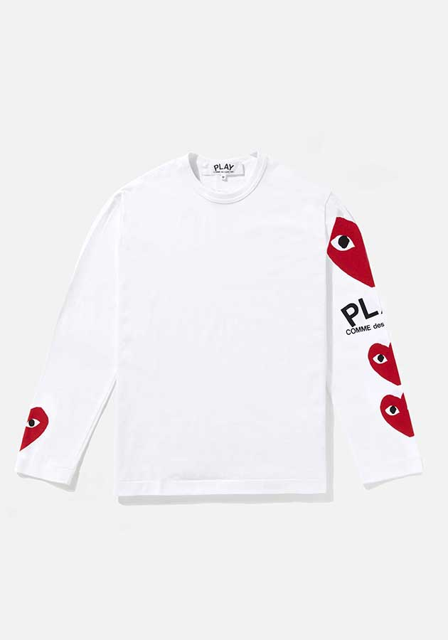 comme des garcons play 4 heart long sleeve