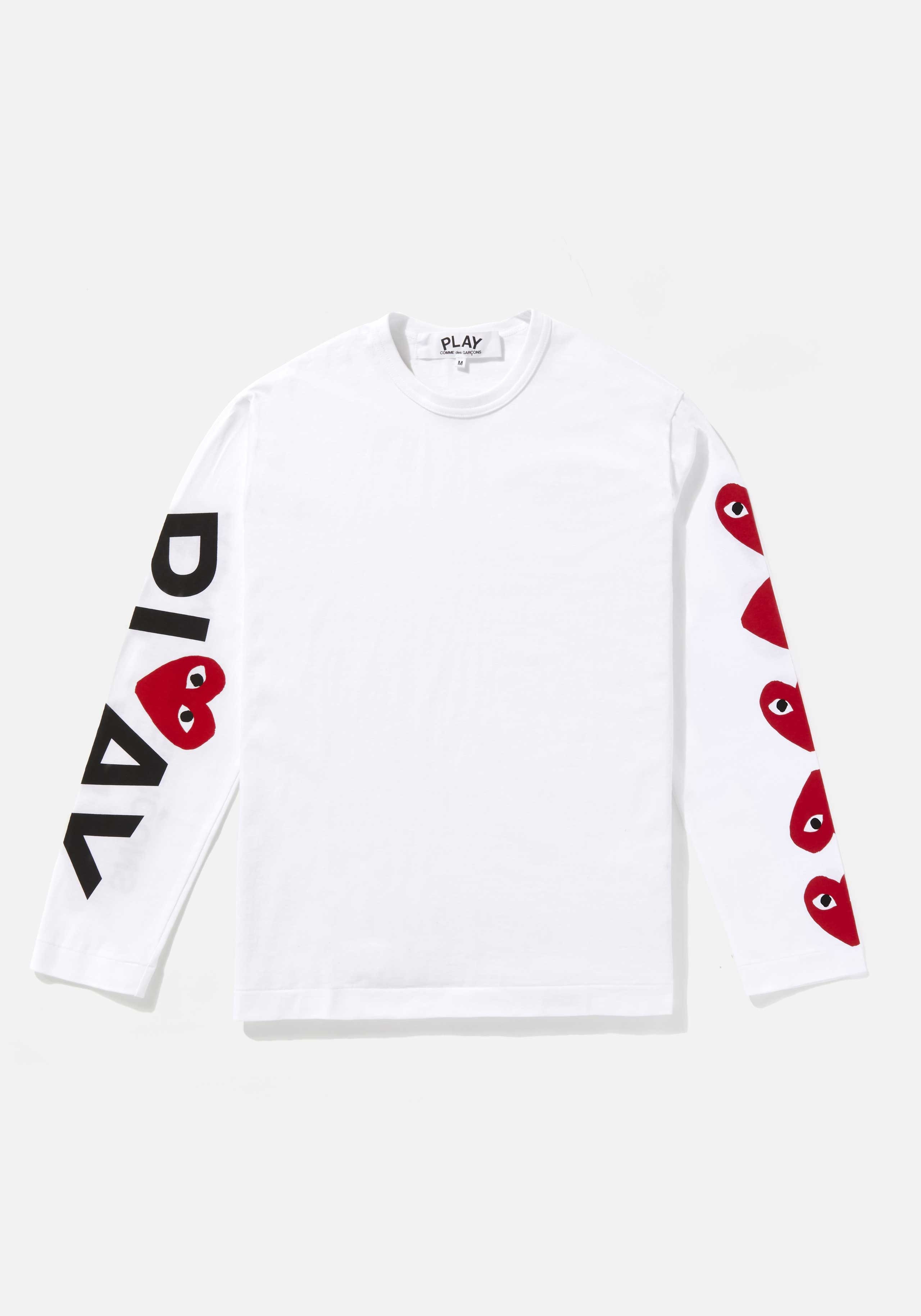 comme des garcons play 5 heart long sleeve 1