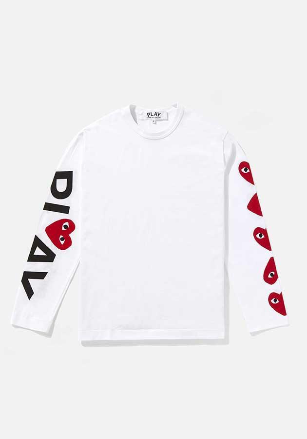 comme des garcons play 5 heart long sleeve