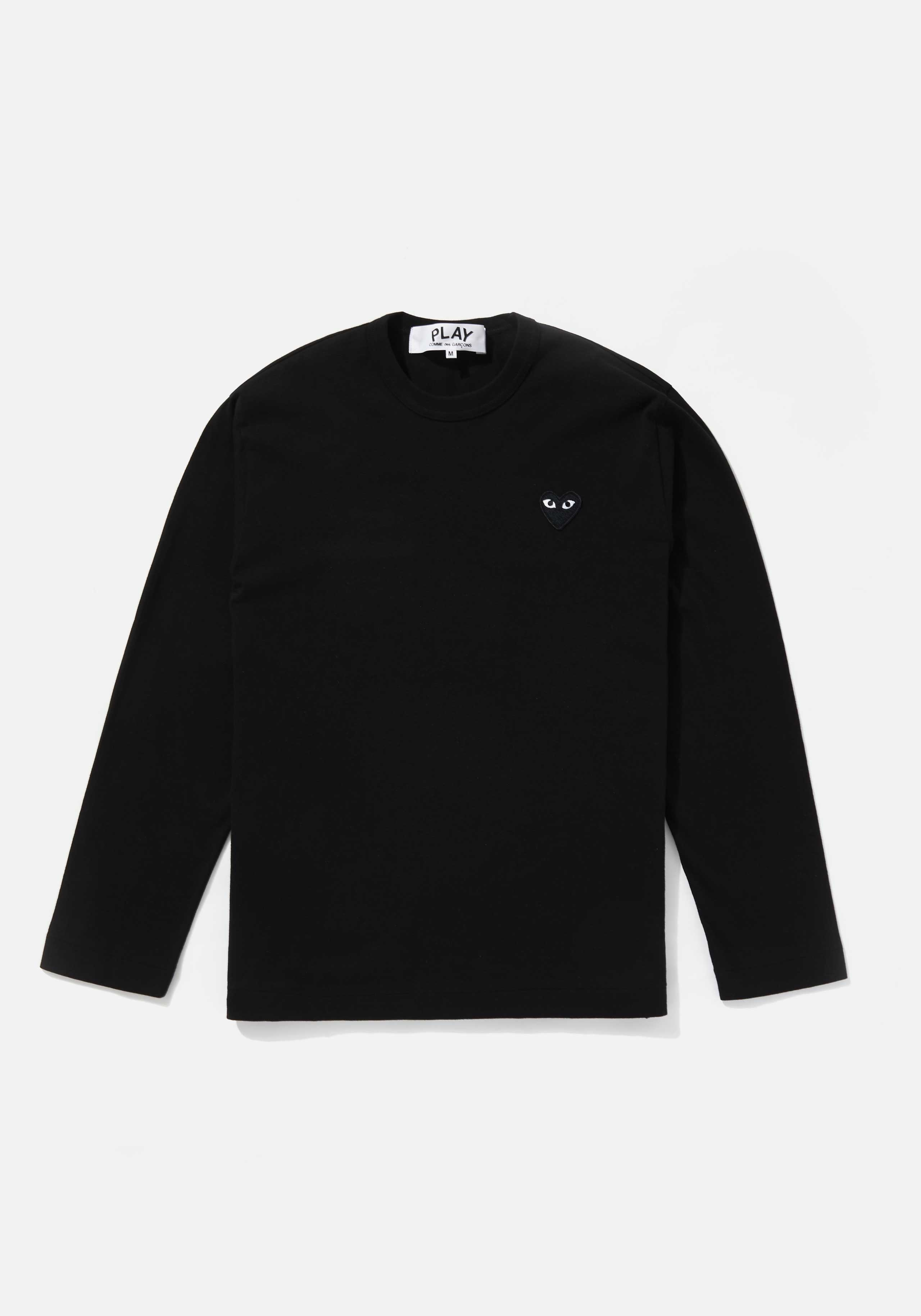 comme des garcons play black heart long sleeve 1