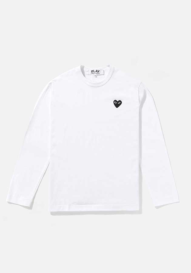 comme des garcons play black heart long sleeve