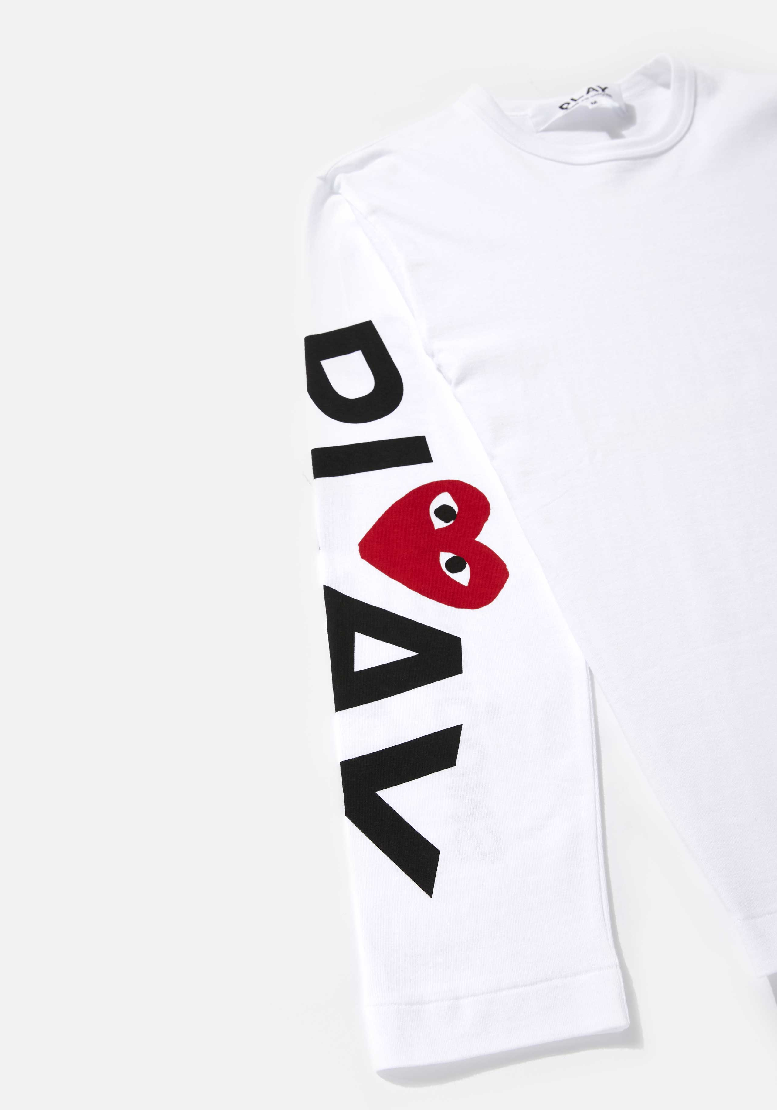 comme des garcons play big heart long sleeve  4