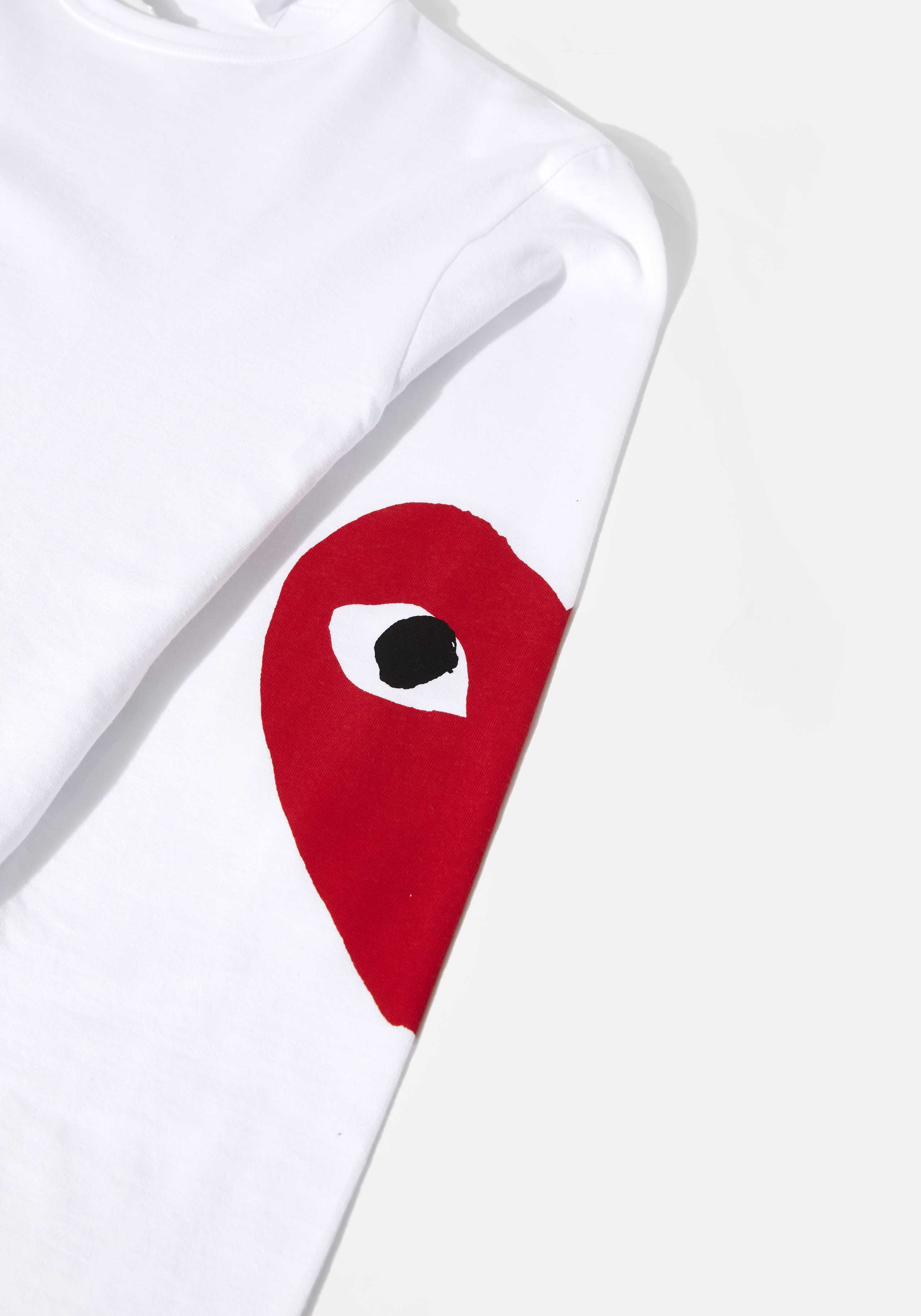 comme des garcons play big heart long sleeve  5