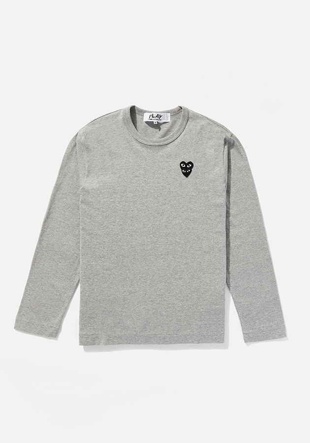comme des garcons play LAYERED BLACK heart long sleeve