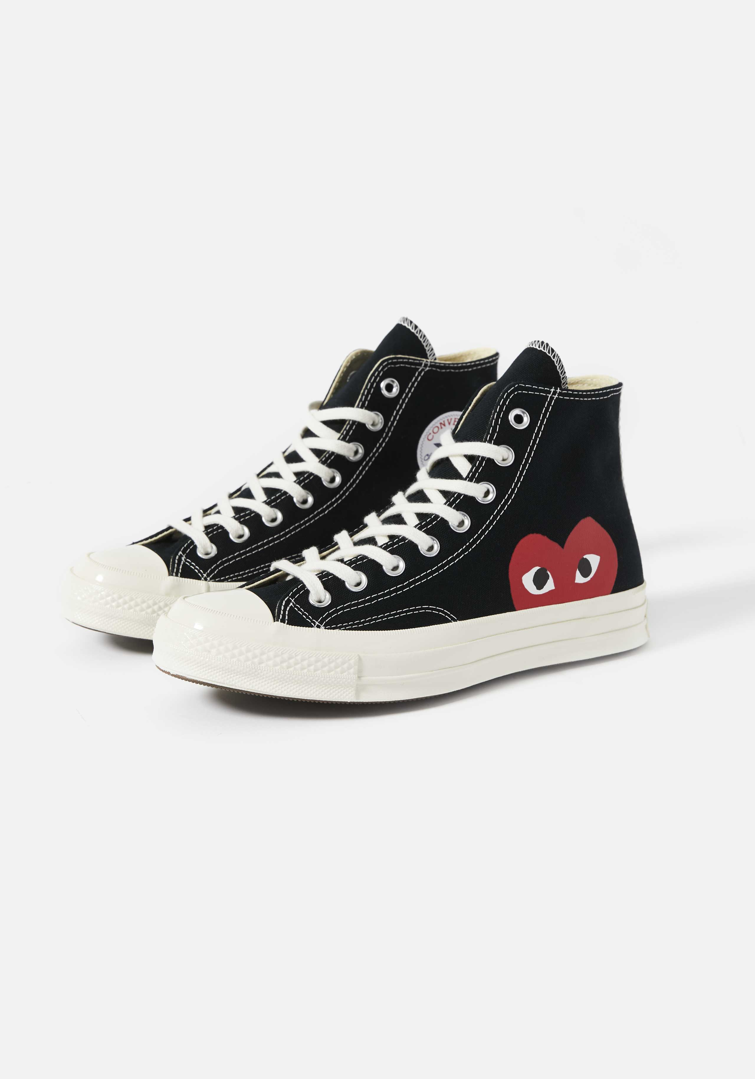 cdg play converse red heart 70s high 2