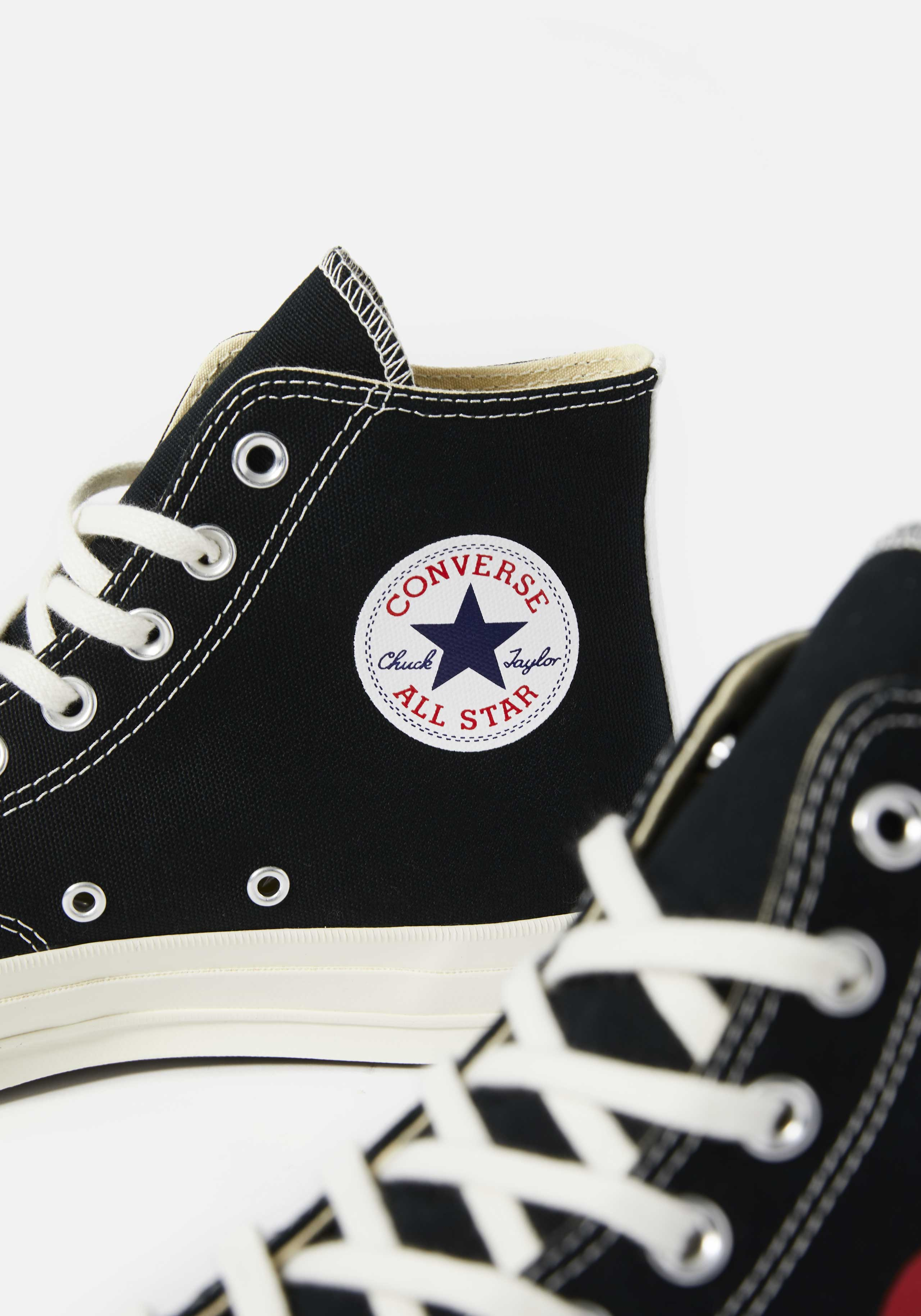 cdg play converse red heart 70s high 3