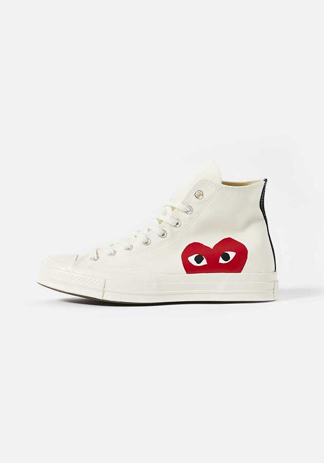 cdg play converse red heart 70s high
