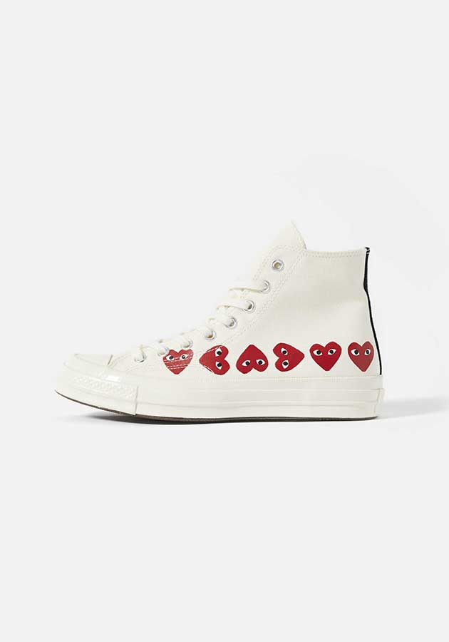 cdg play converse multi heart 70s high