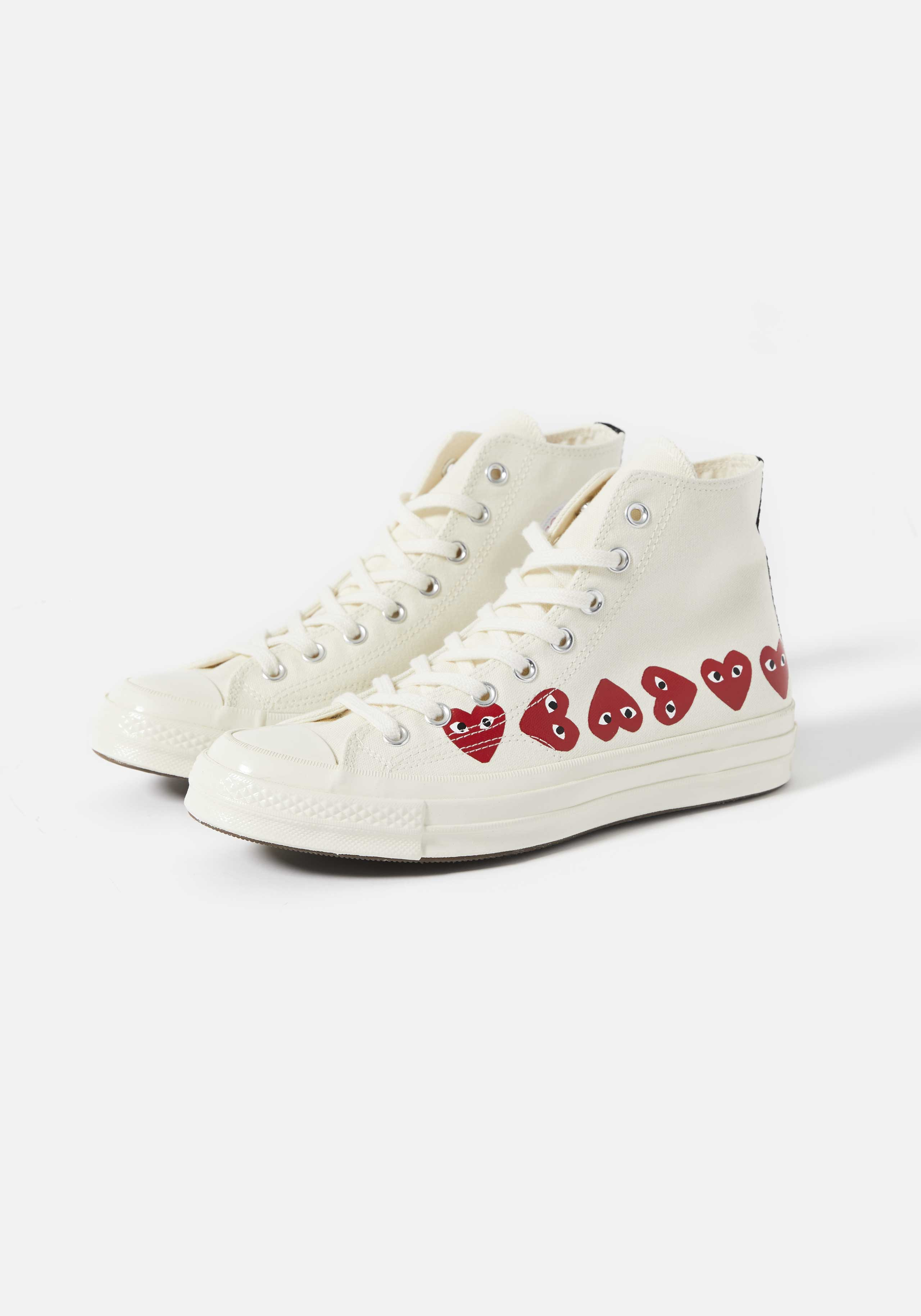 cdg play converse multi heart 70's high 2