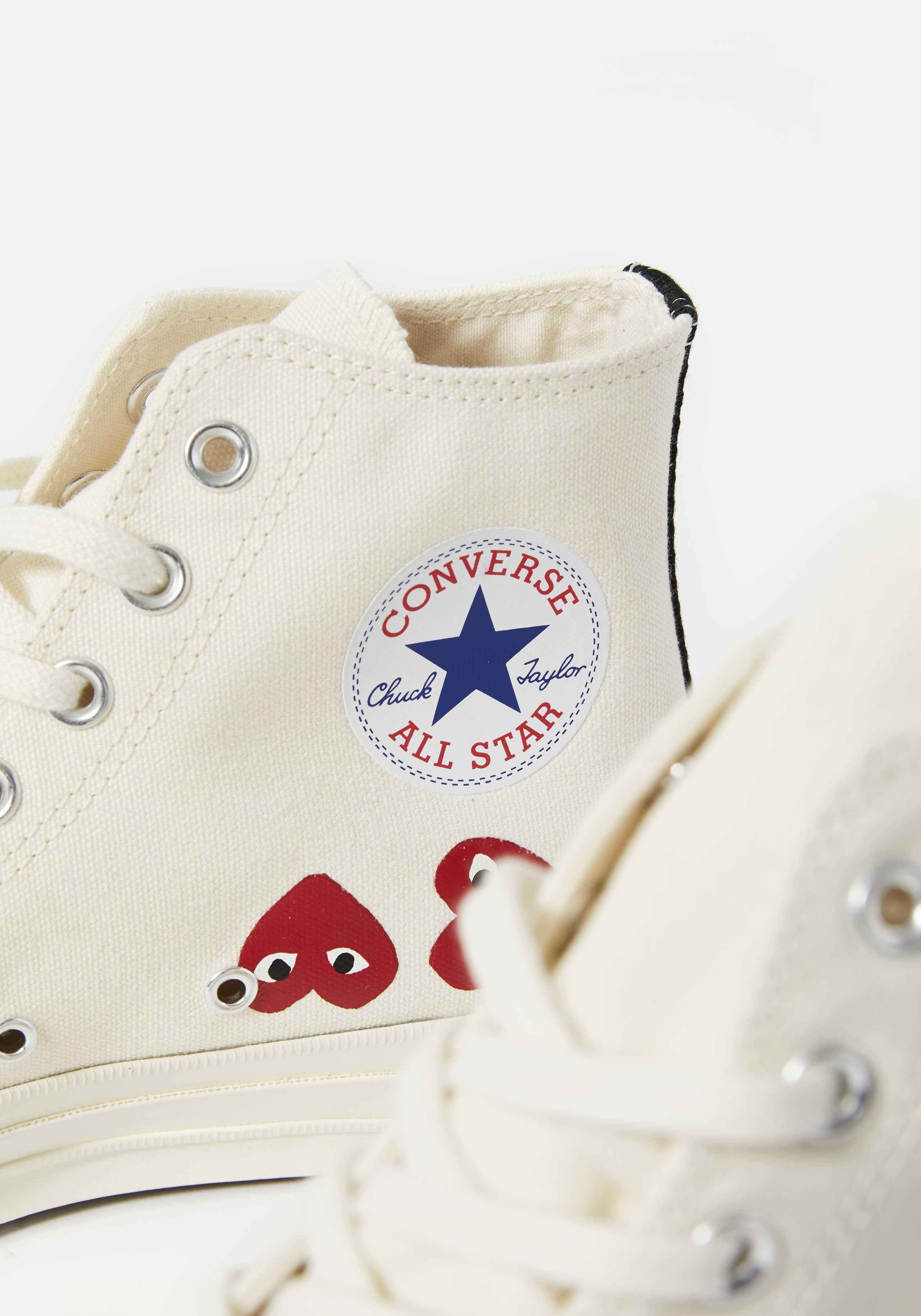 cdg play converse multi heart 70's high 3