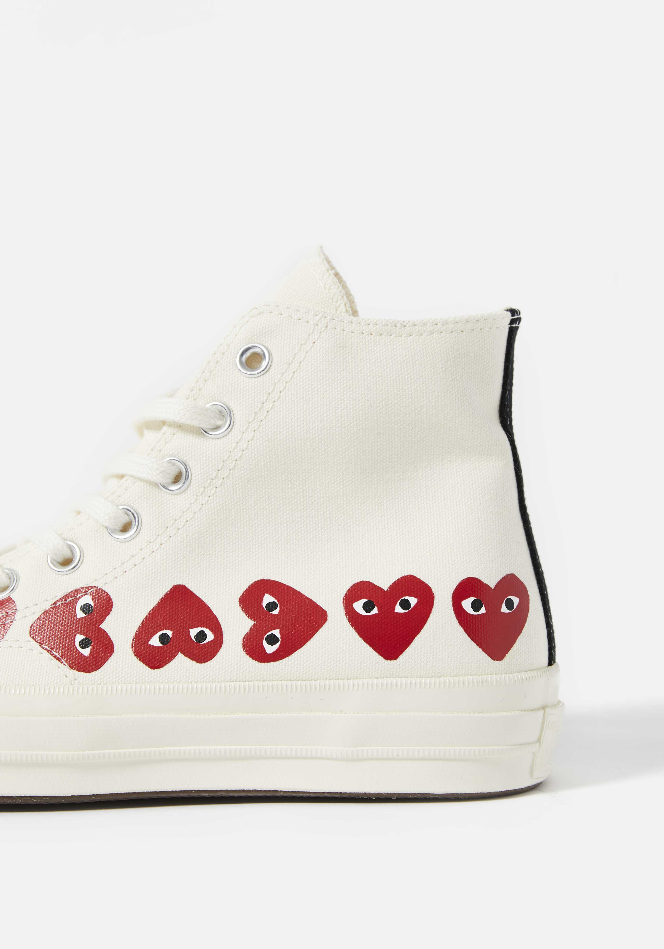 cdg play converse multi heart 70's high 4