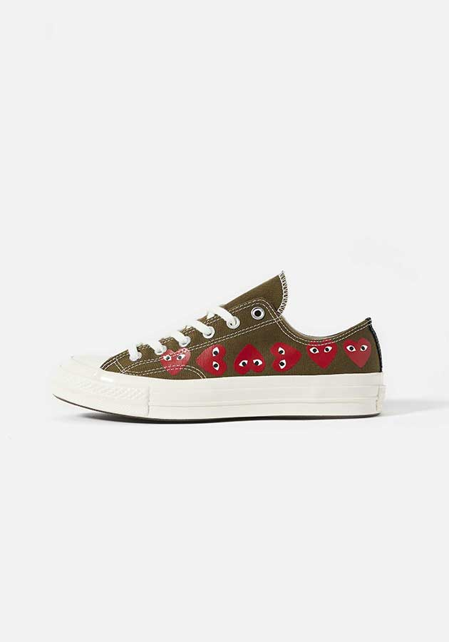 cdg play converse multi heart 70s low