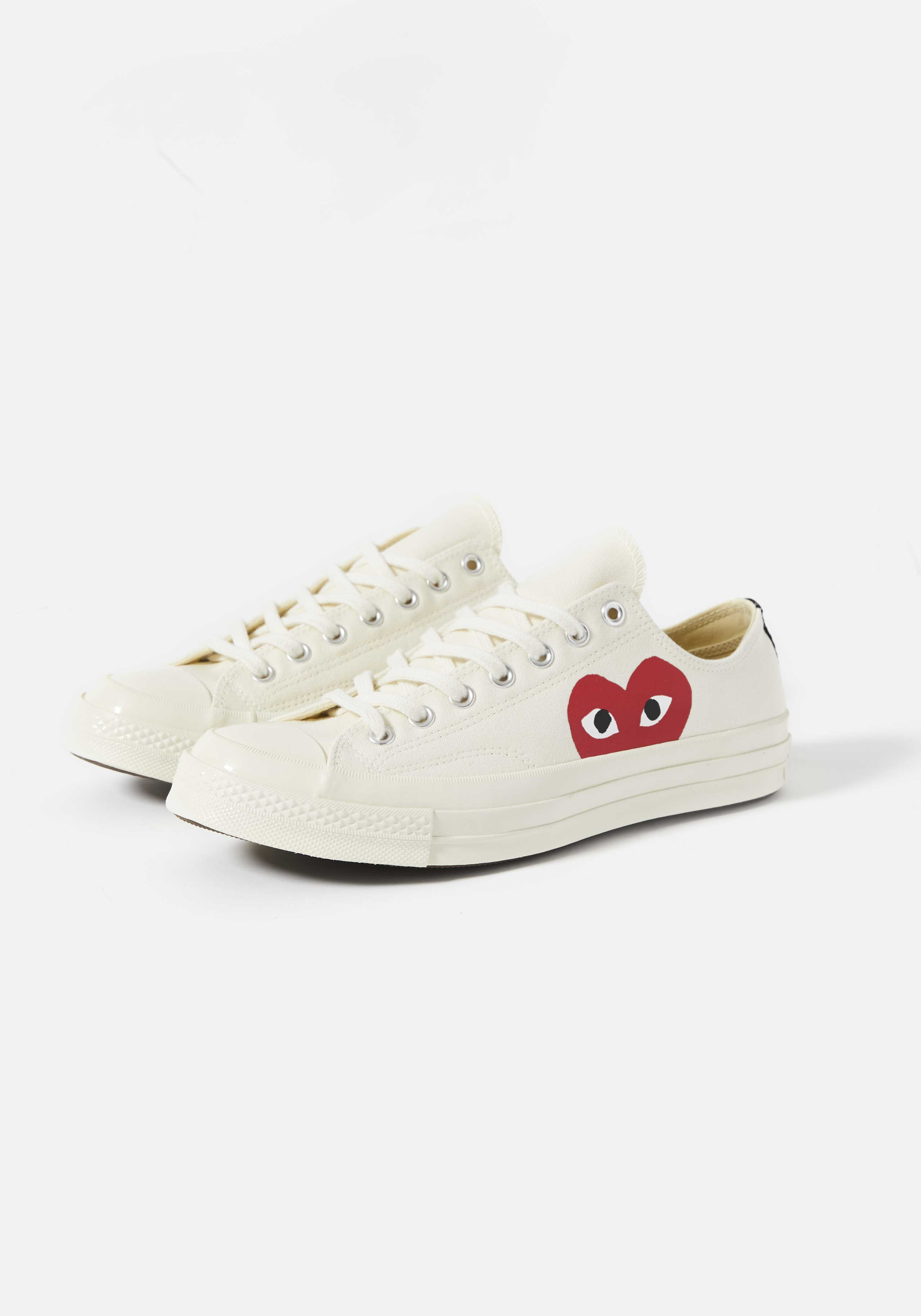 cdg play converse red heart 70s low 2
