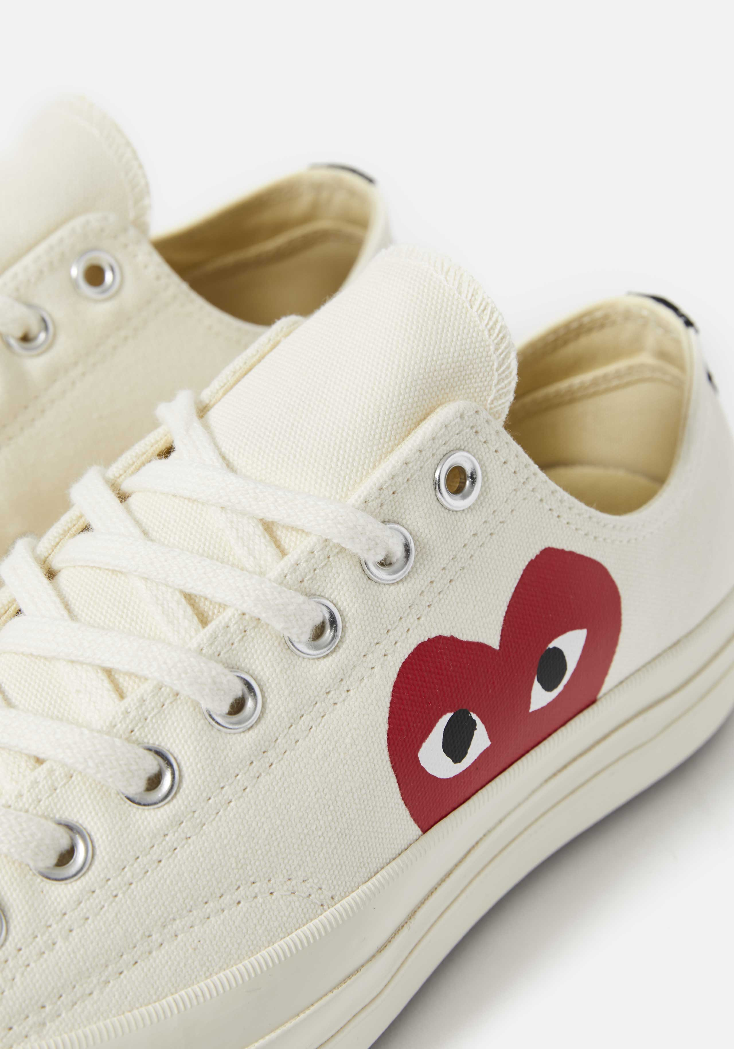 cdg play converse red heart 70s low 3