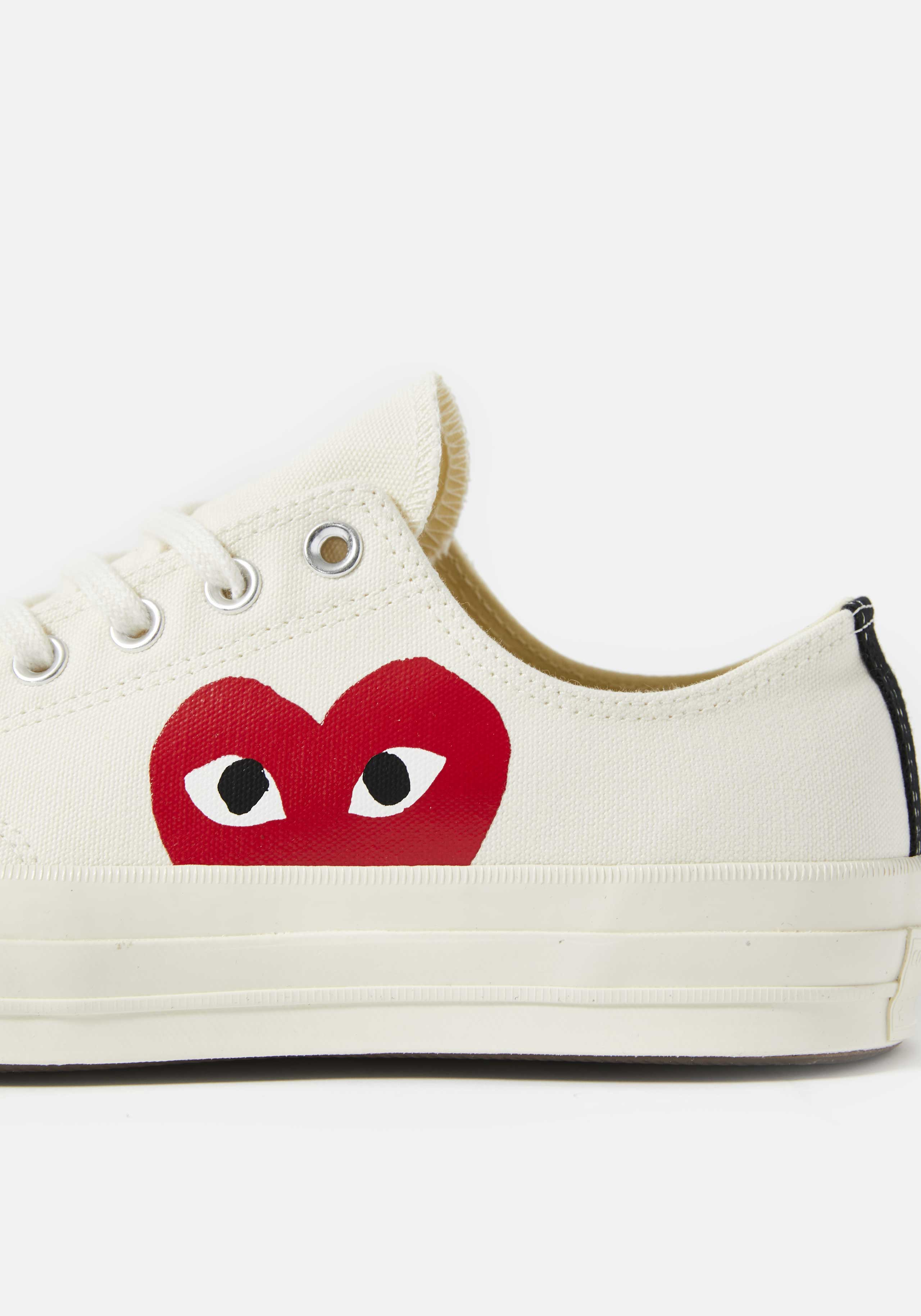cdg play converse red heart 70s low 4