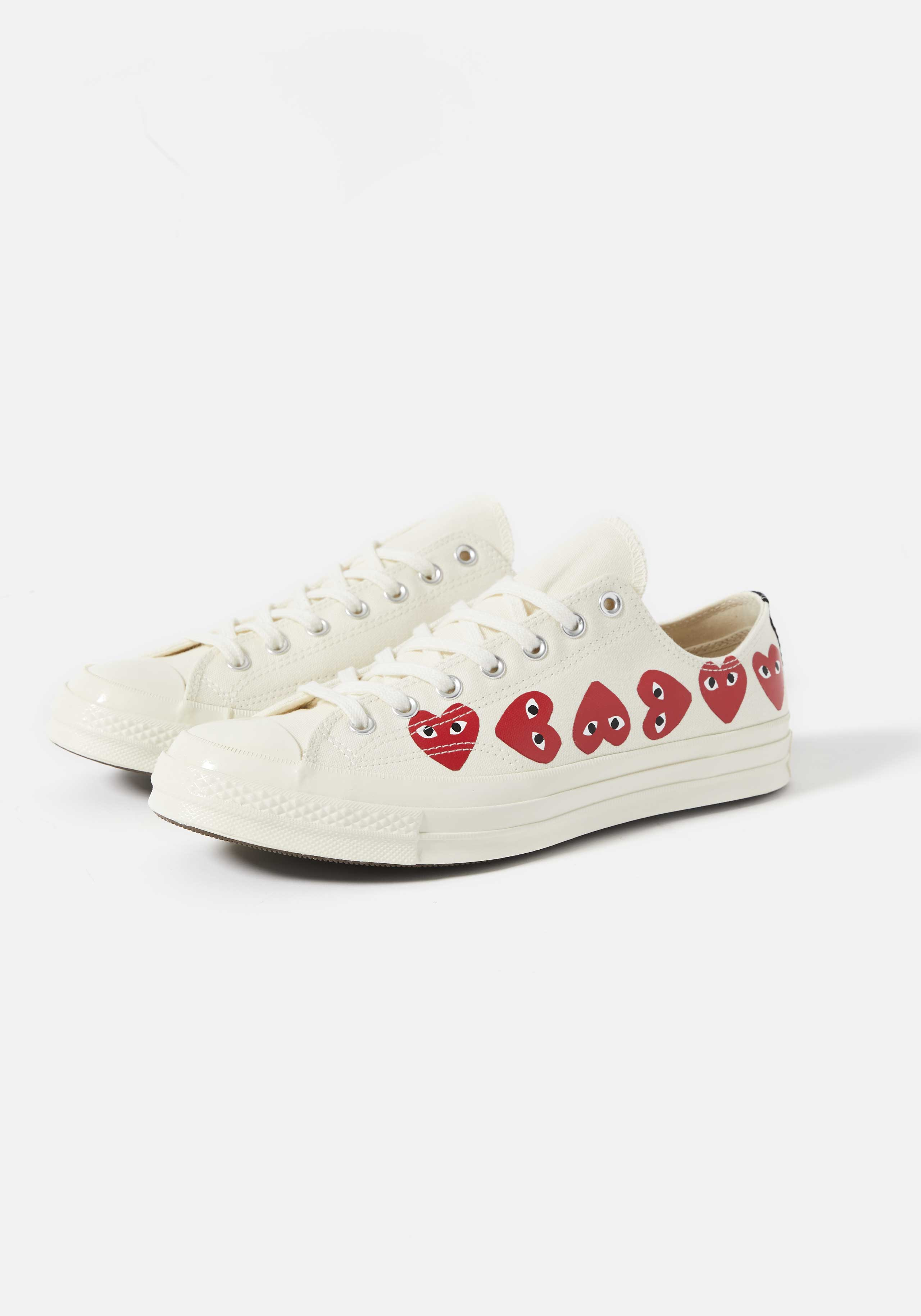 cdg play converse multi heart 70's low 2