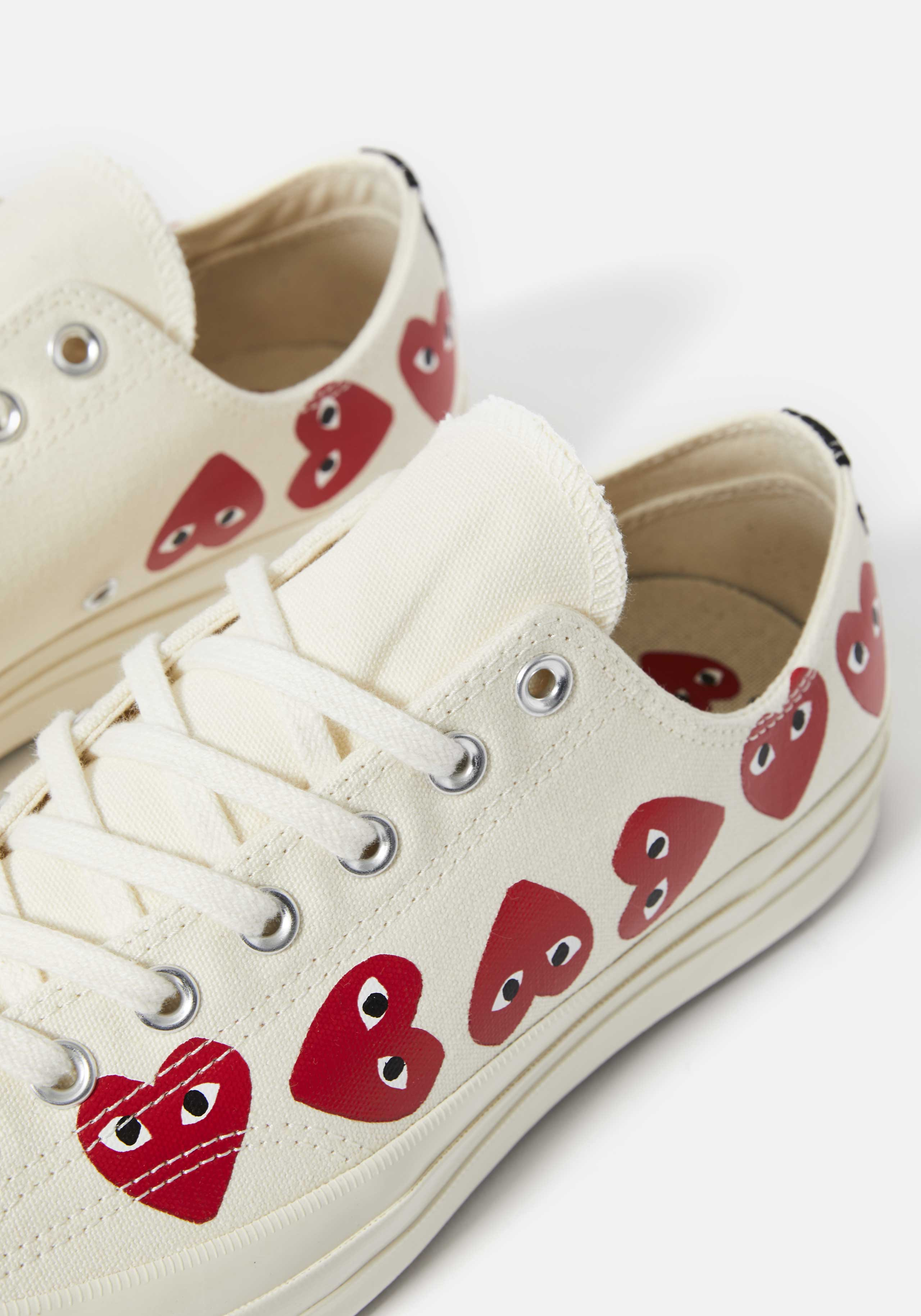 cdg play converse multi heart 70's low 3