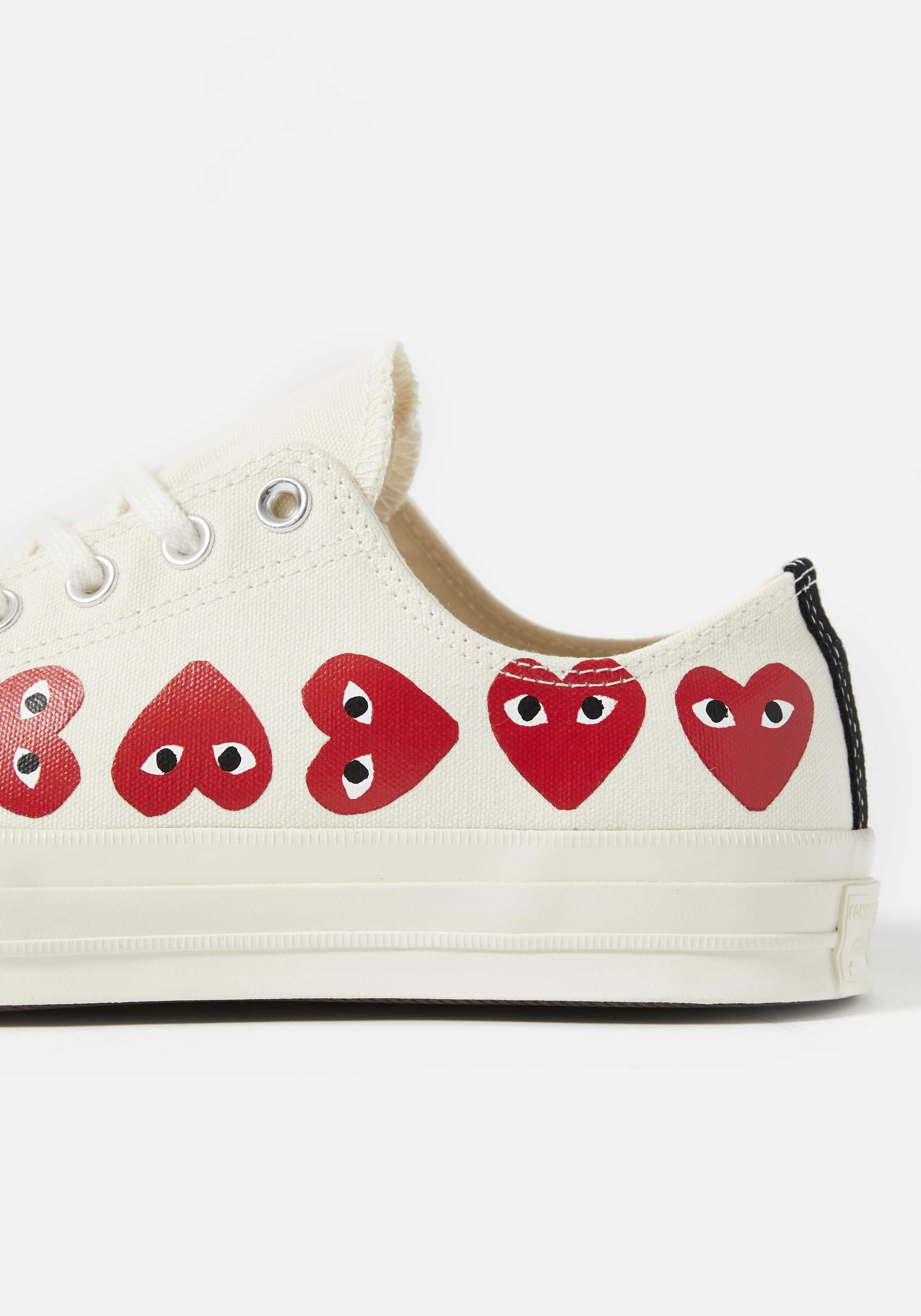 cdg play converse multi heart 70's low 4