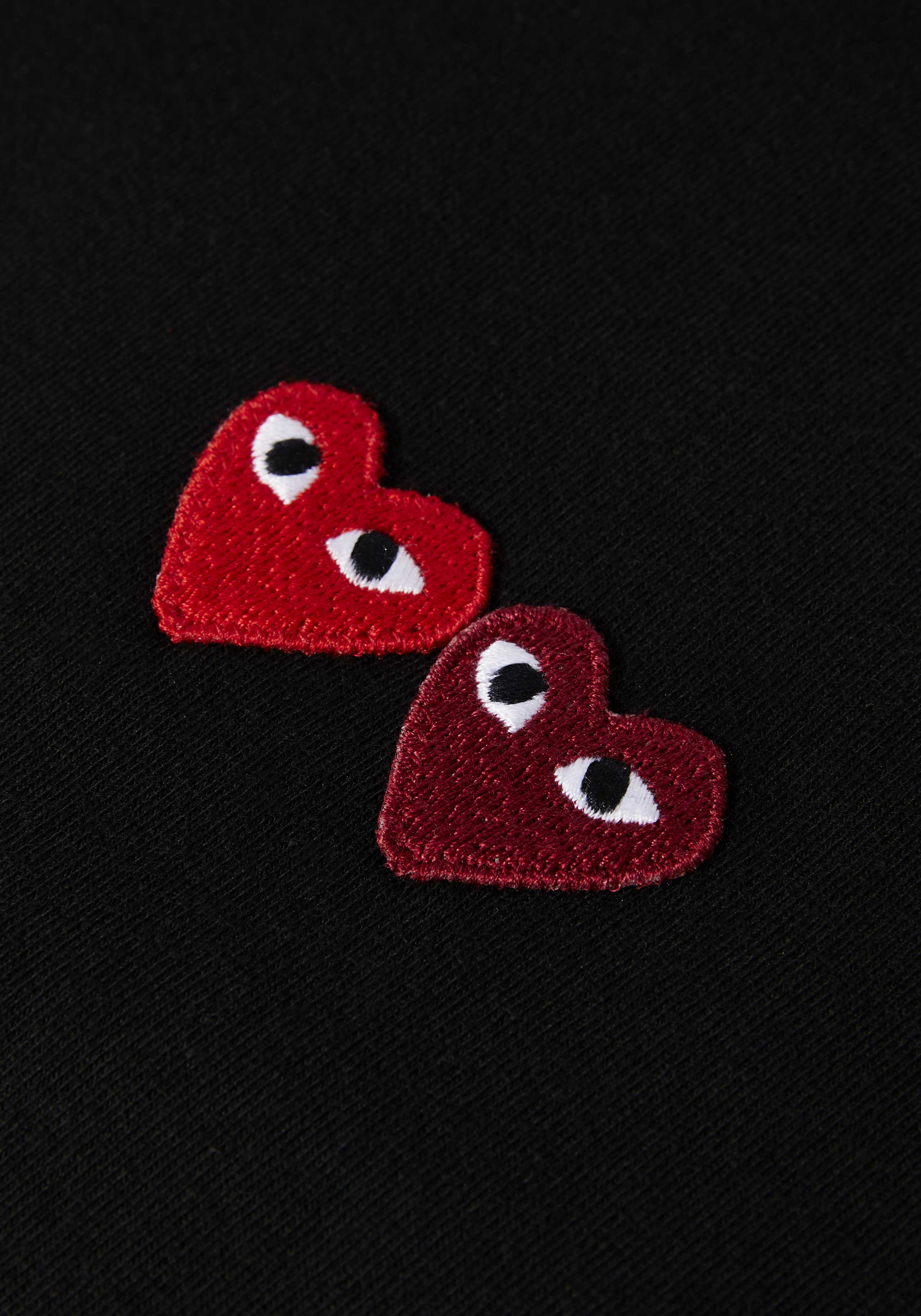comme des garcons play double heart tee 4