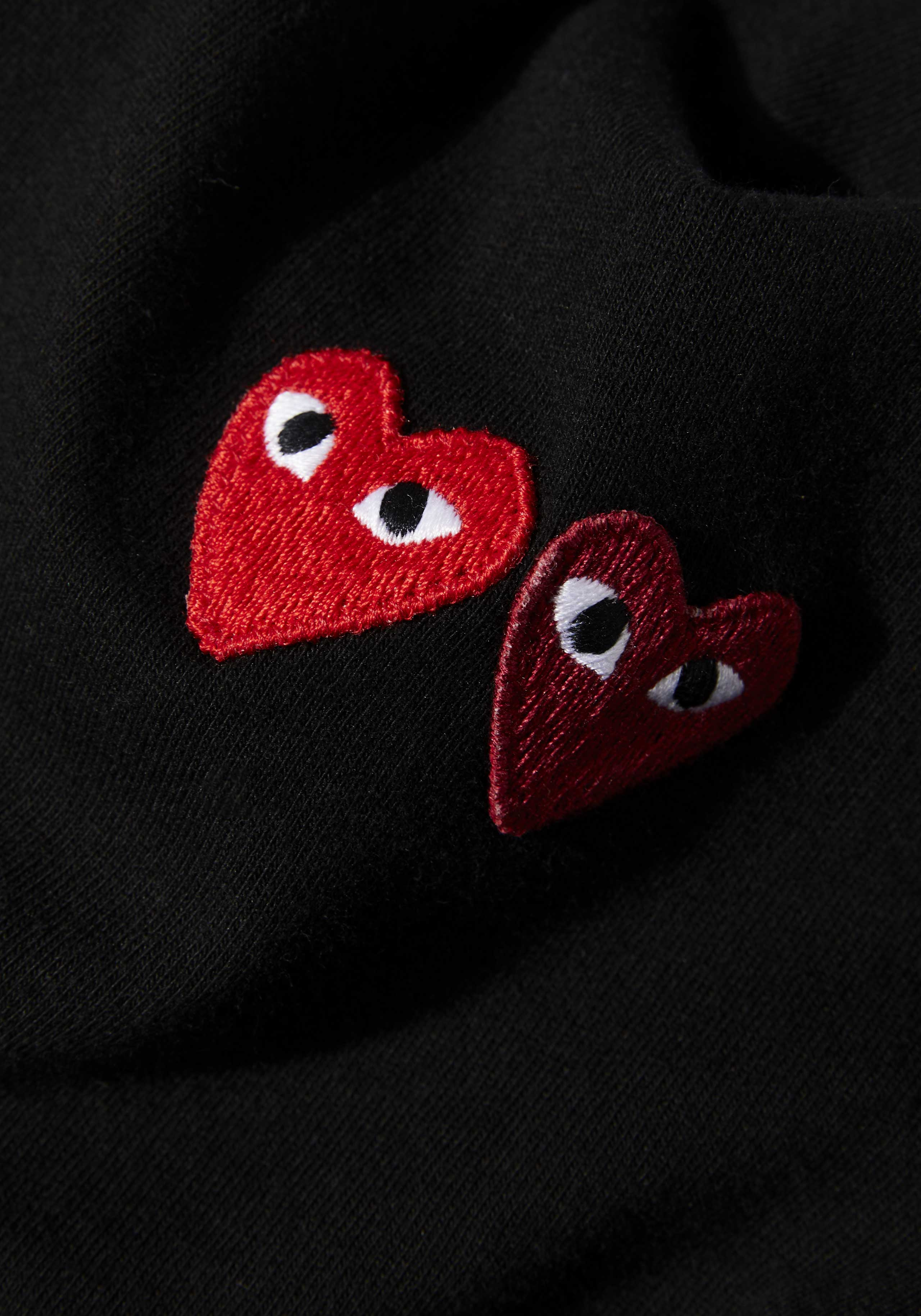 comme des garcons play double heart tee 5