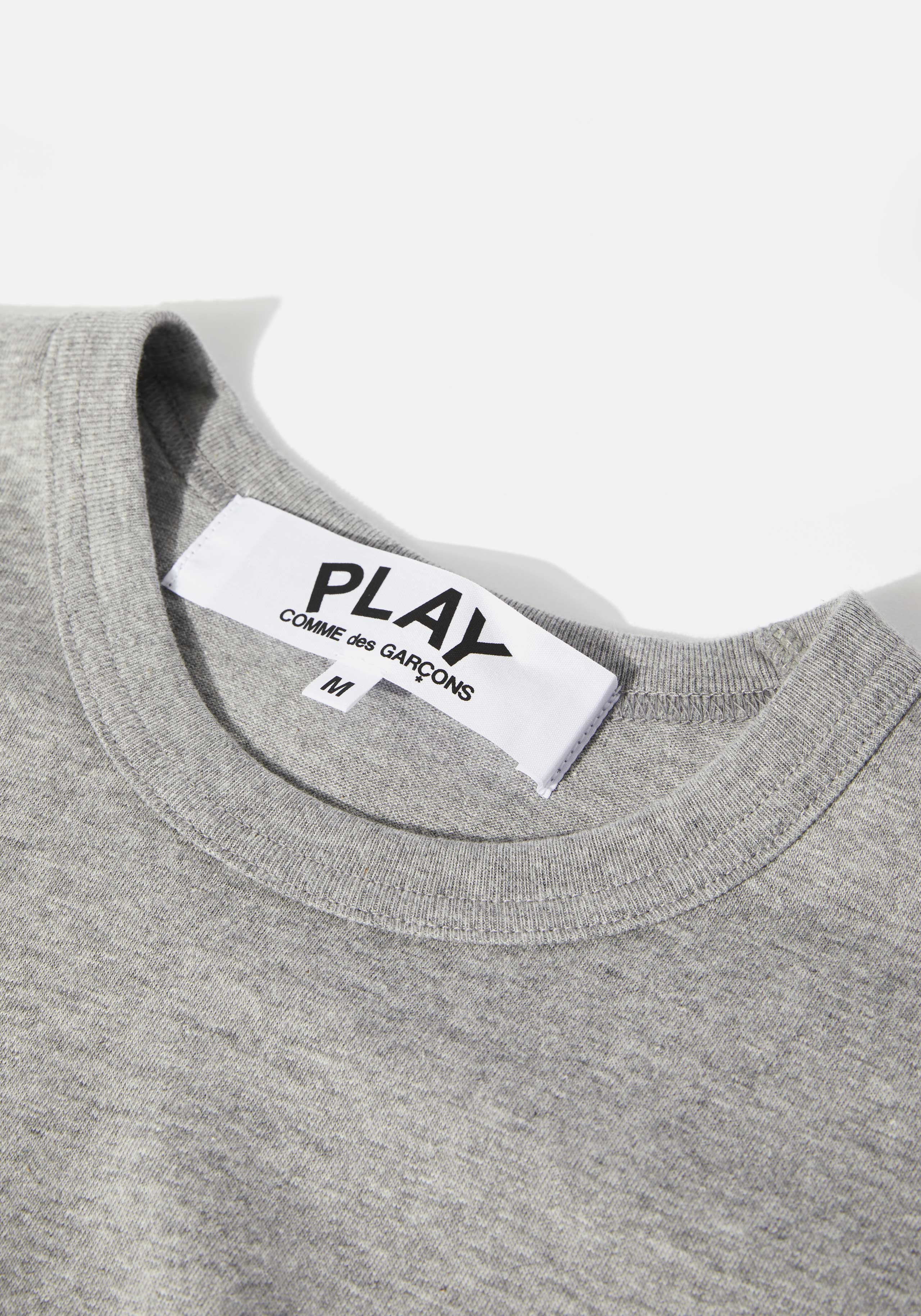comme des garcons play double heart tee 3