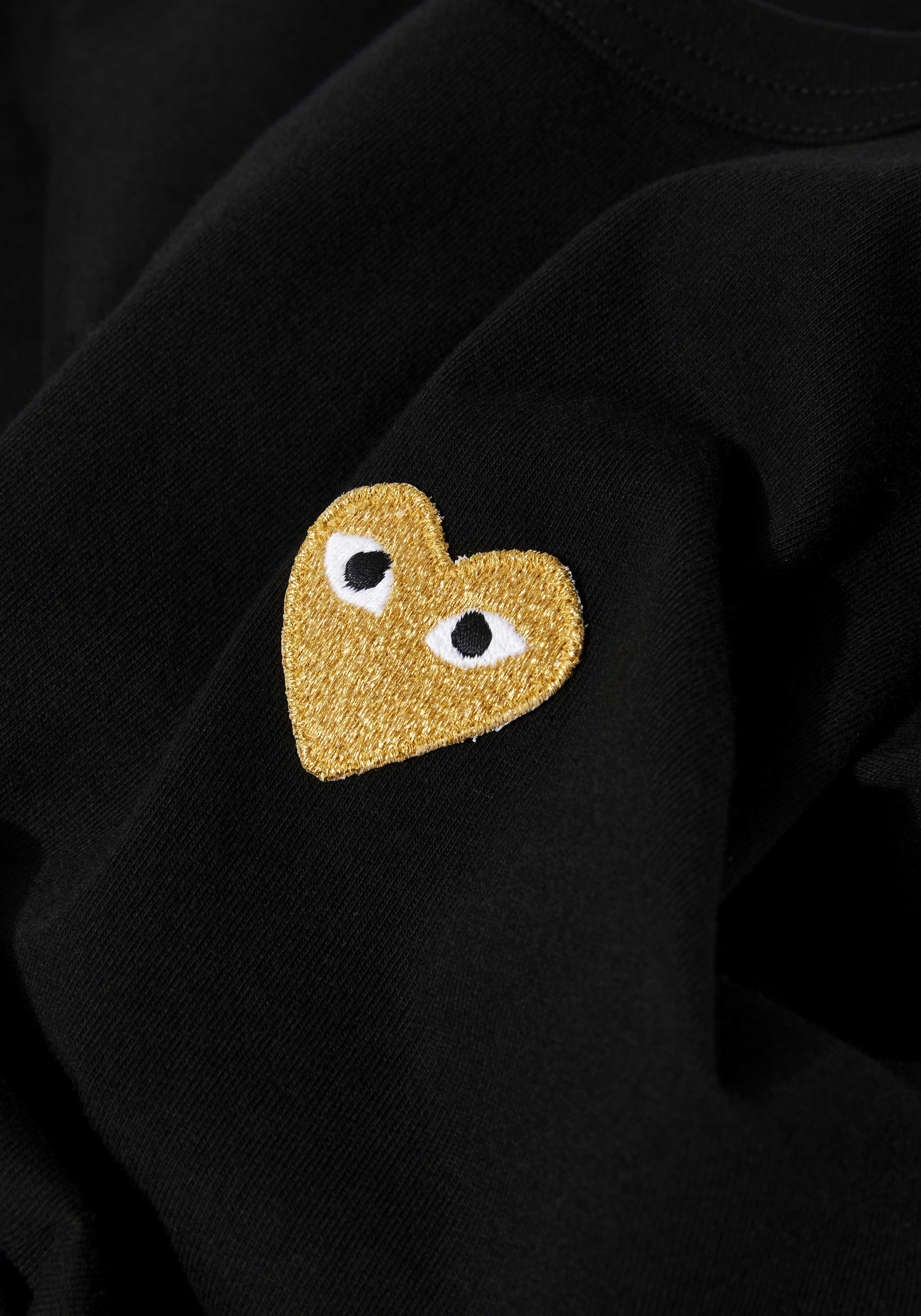 comme des garcons play gold heart tee 5