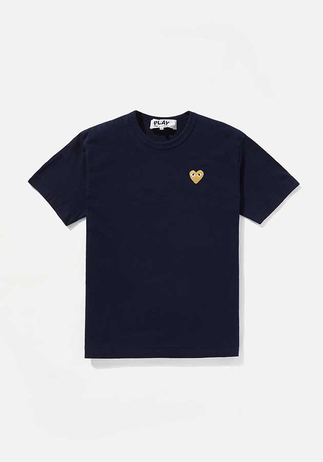 comme des garcons play gold heart tee