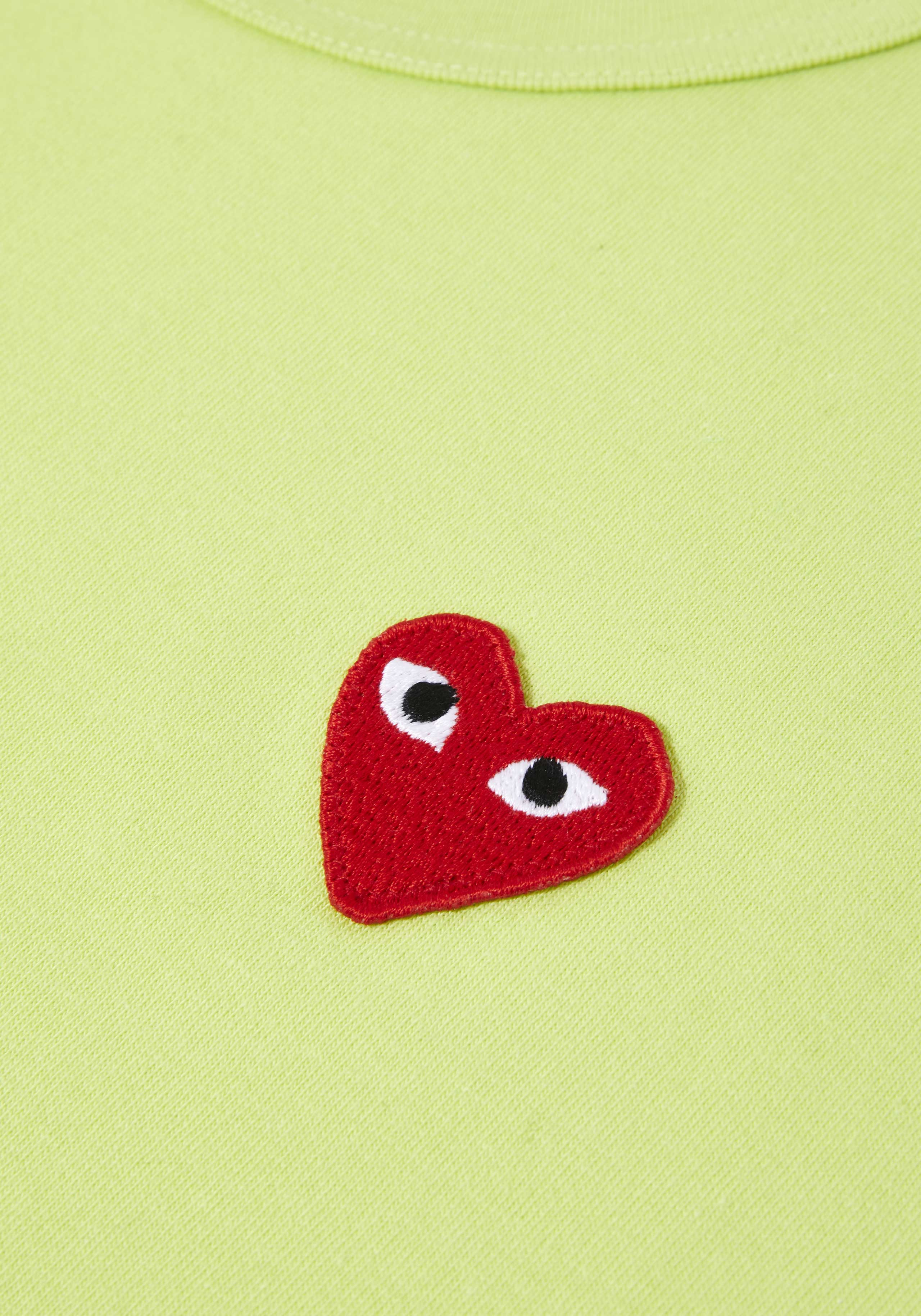 comme des garcons bright red heart tee 4