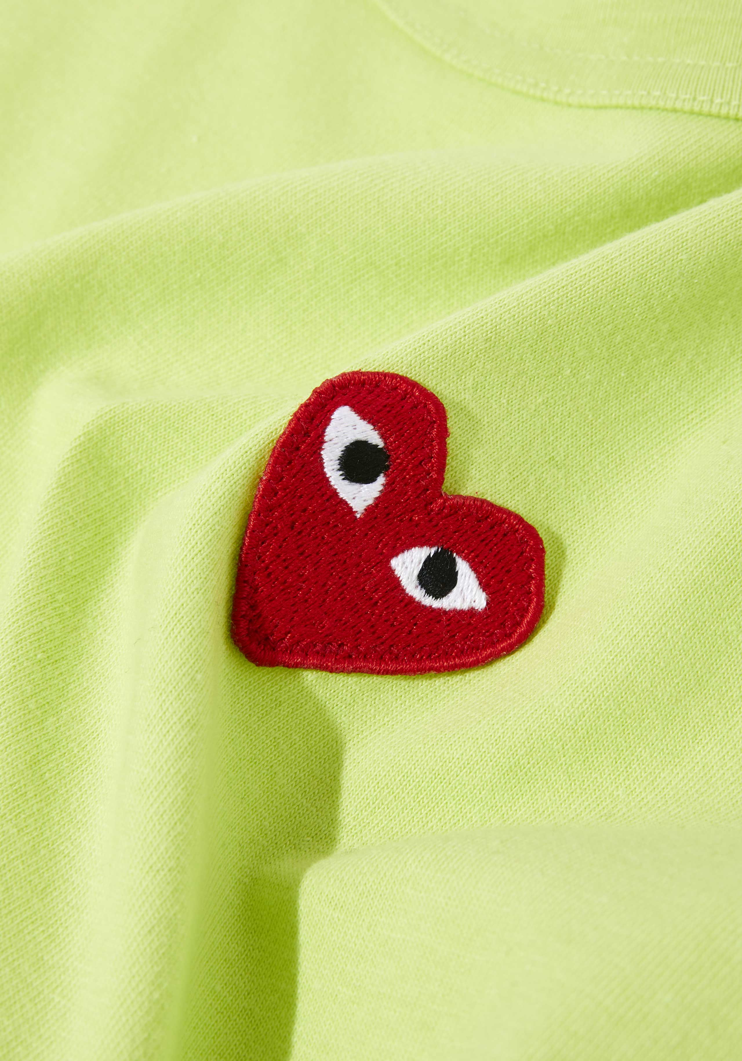 comme des garcons bright red heart tee 5