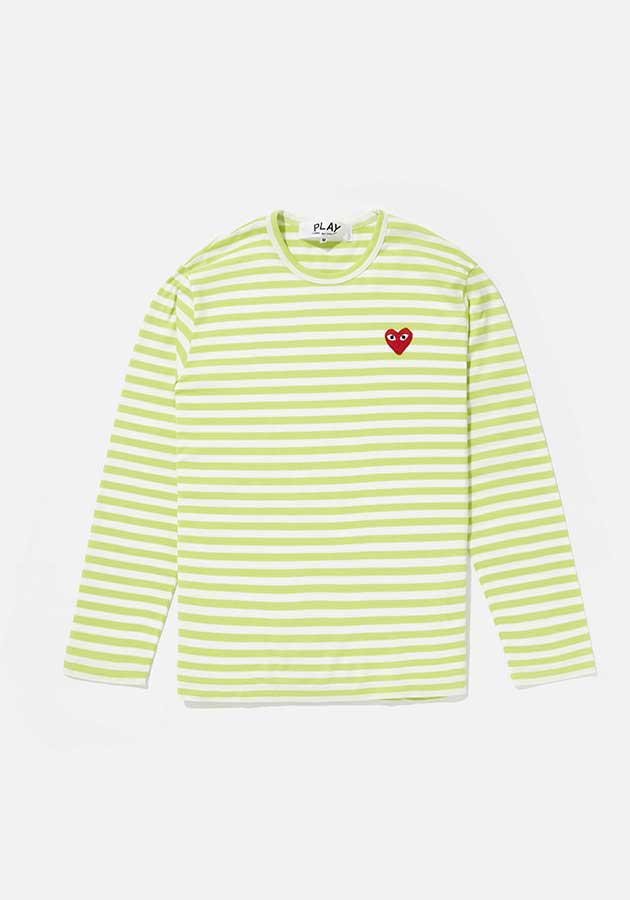comme des garcons play bright striped long sleeve