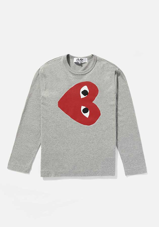 comme des garcons play big heart long sleeve