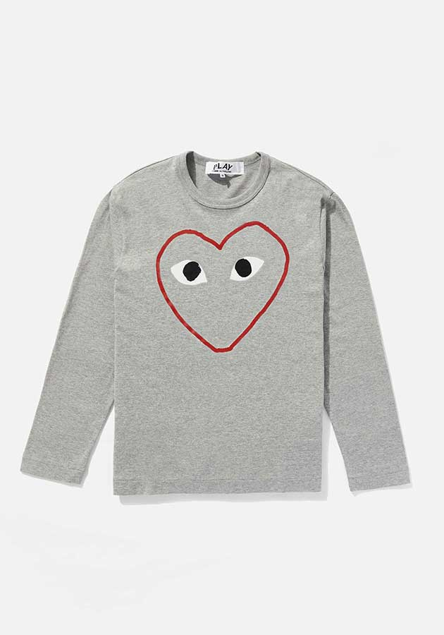 comme des garcons play outline heart long sleeve