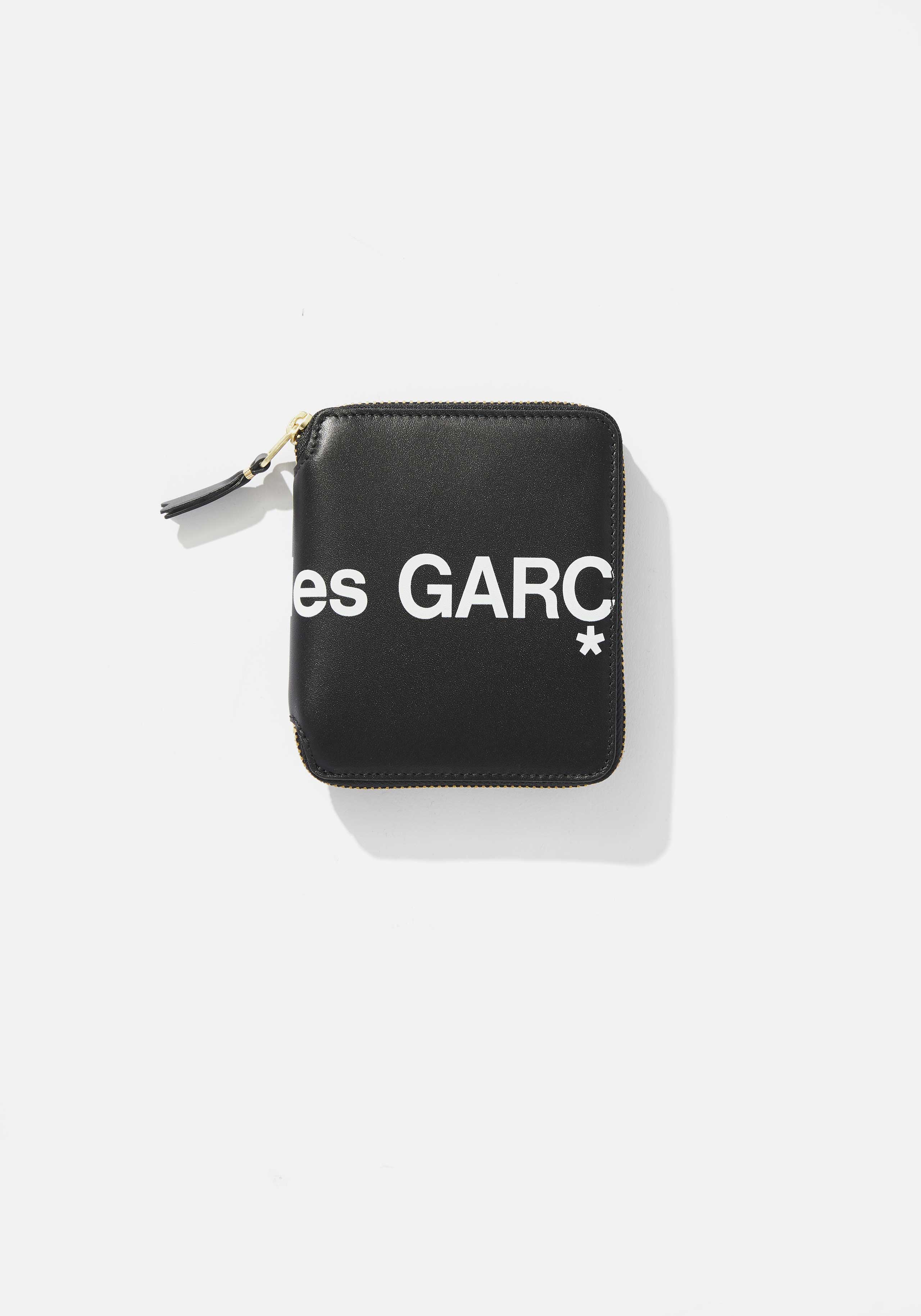 comme des garcons huge logo full zip wallet 1