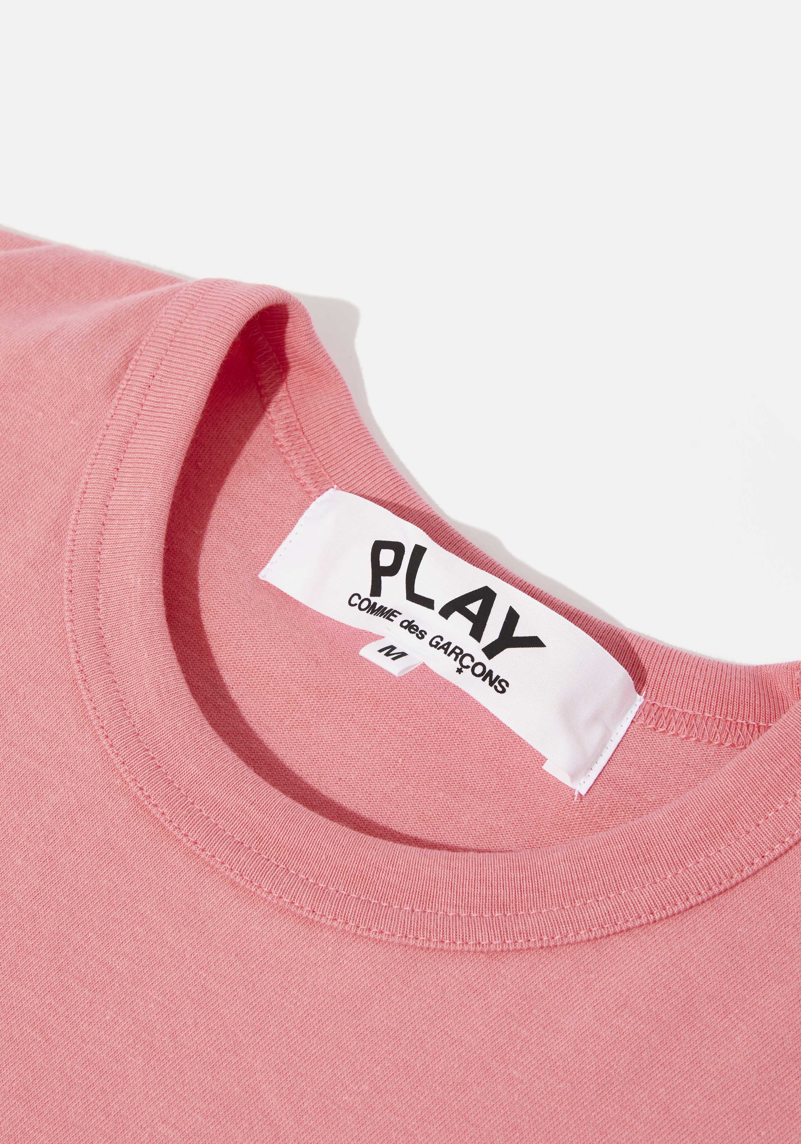 comme des garcons play bright red heart tee 3