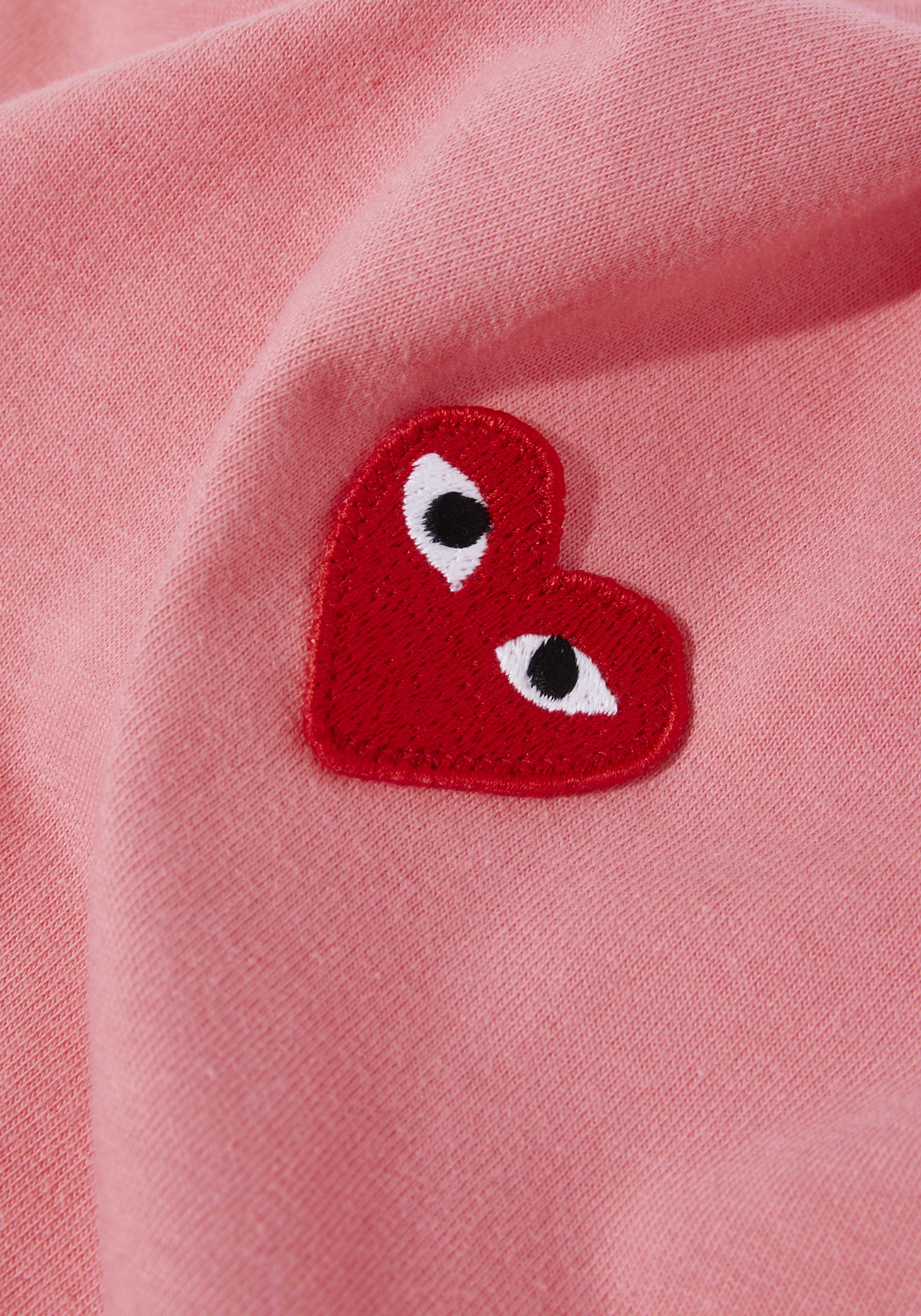 comme des garcons play bright red heart tee 5