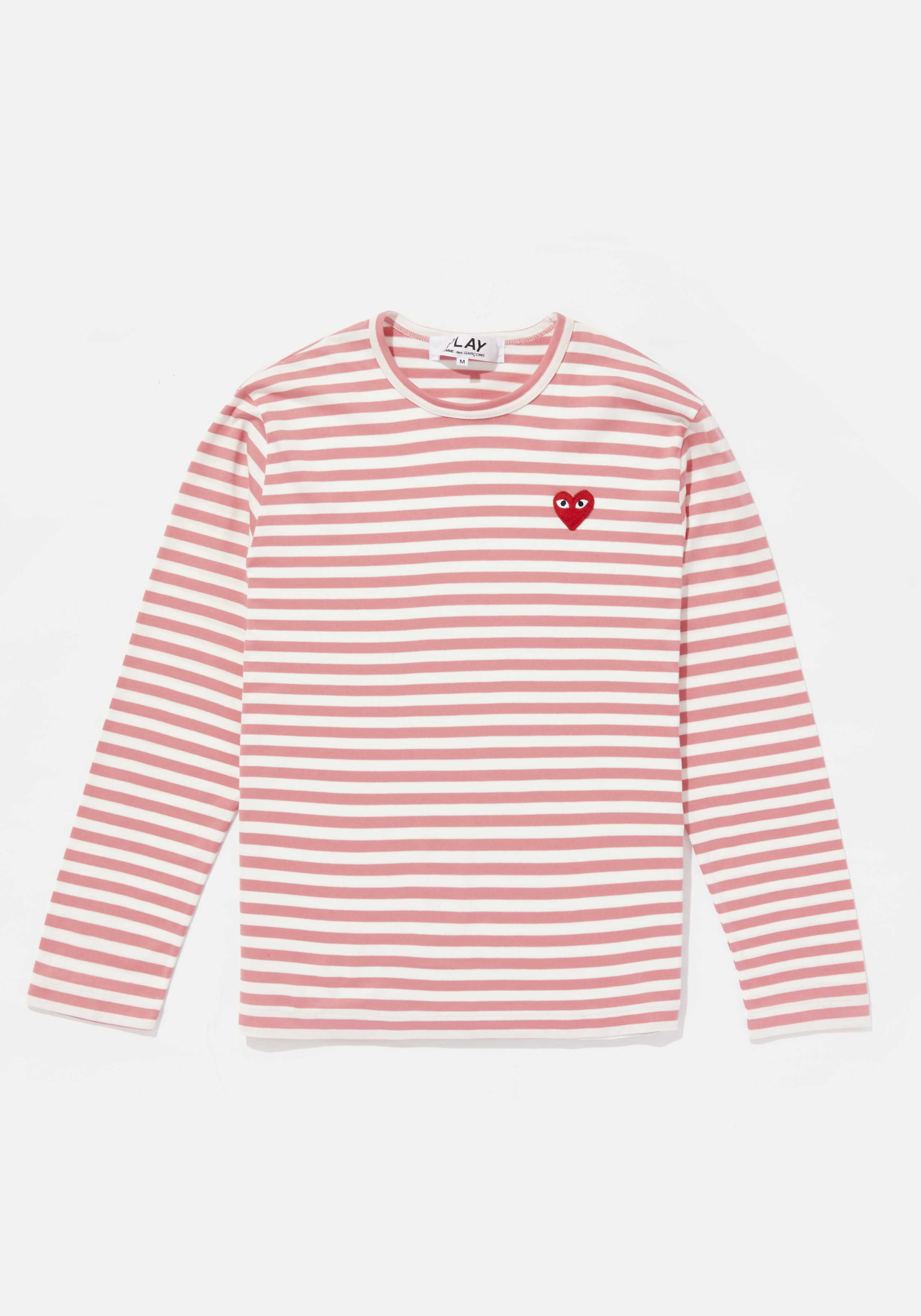 comme des garcons play bright striped long sleeve 1