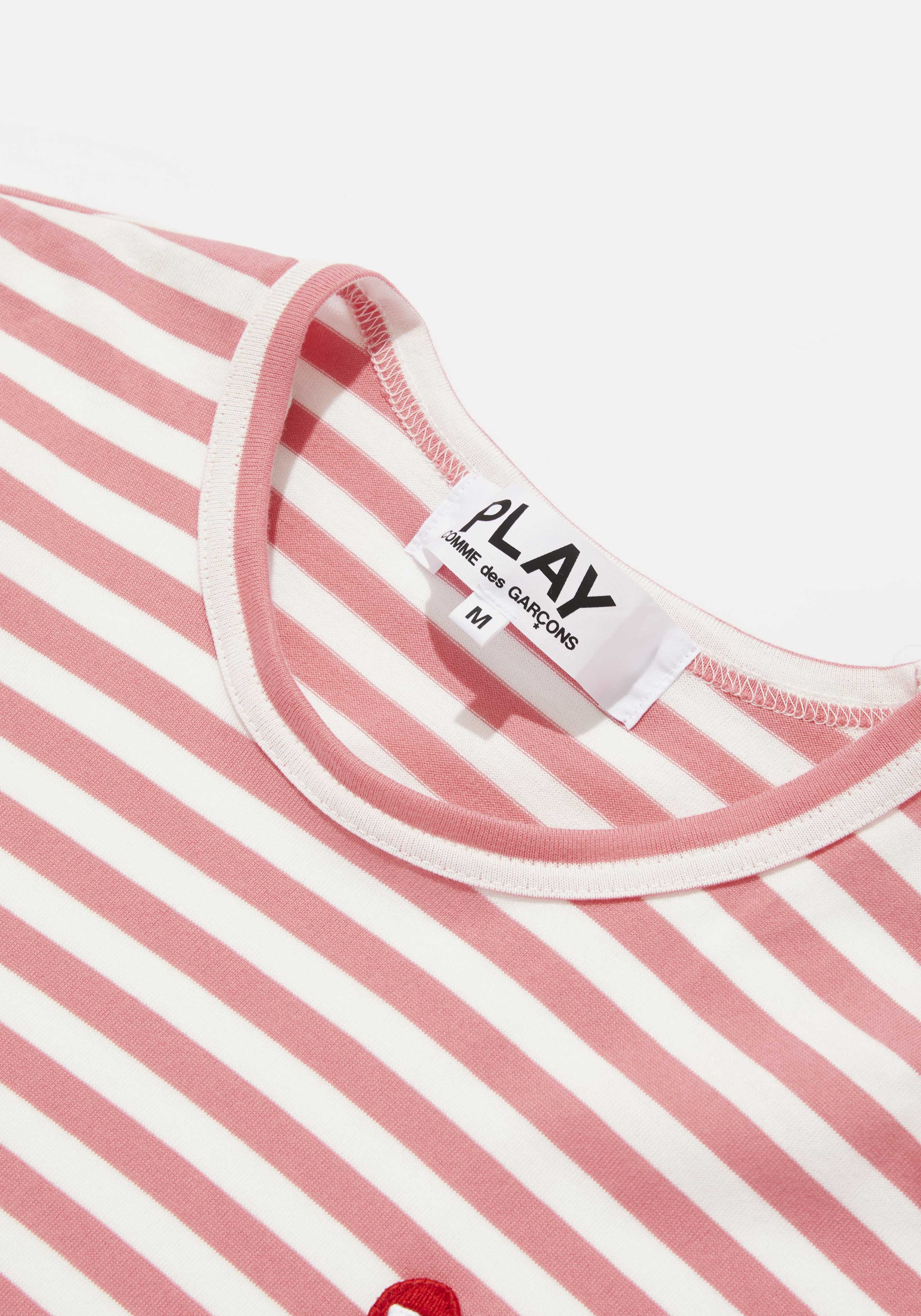 comme des garcons play bright striped long sleeve 3