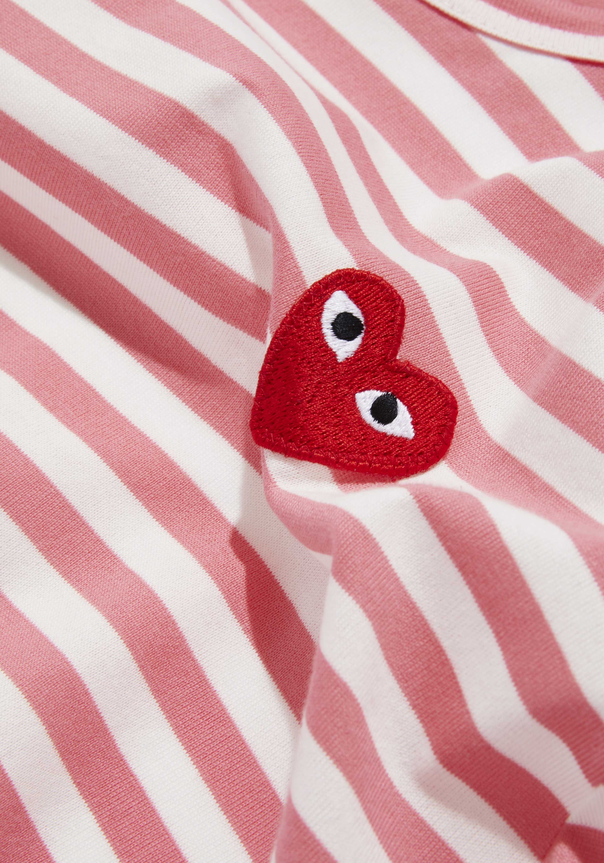 comme des garcons play bright striped long sleeve 5