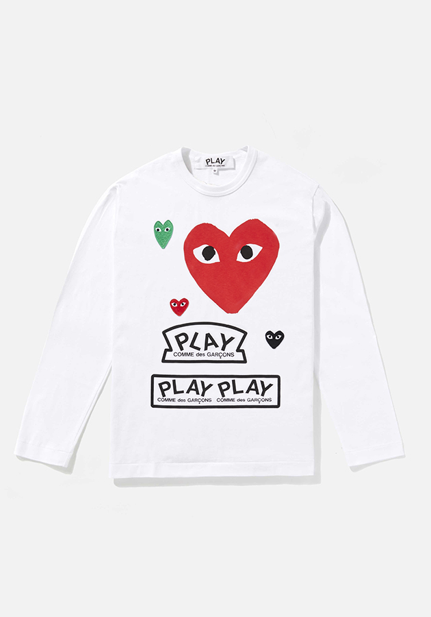 comme des garcons play GRAPHIC red heart long sleeve