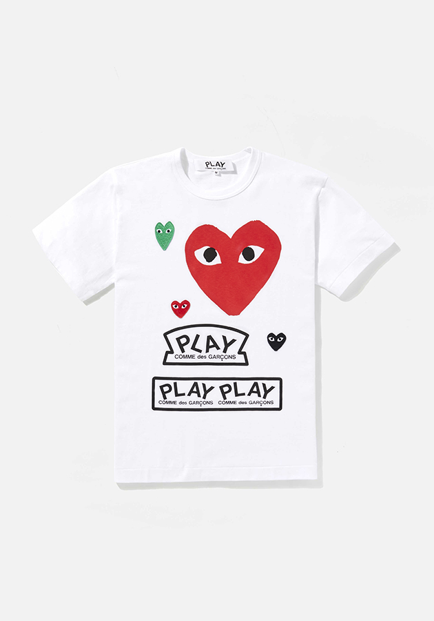 comme des garcons play GRAPHIC red heart tee