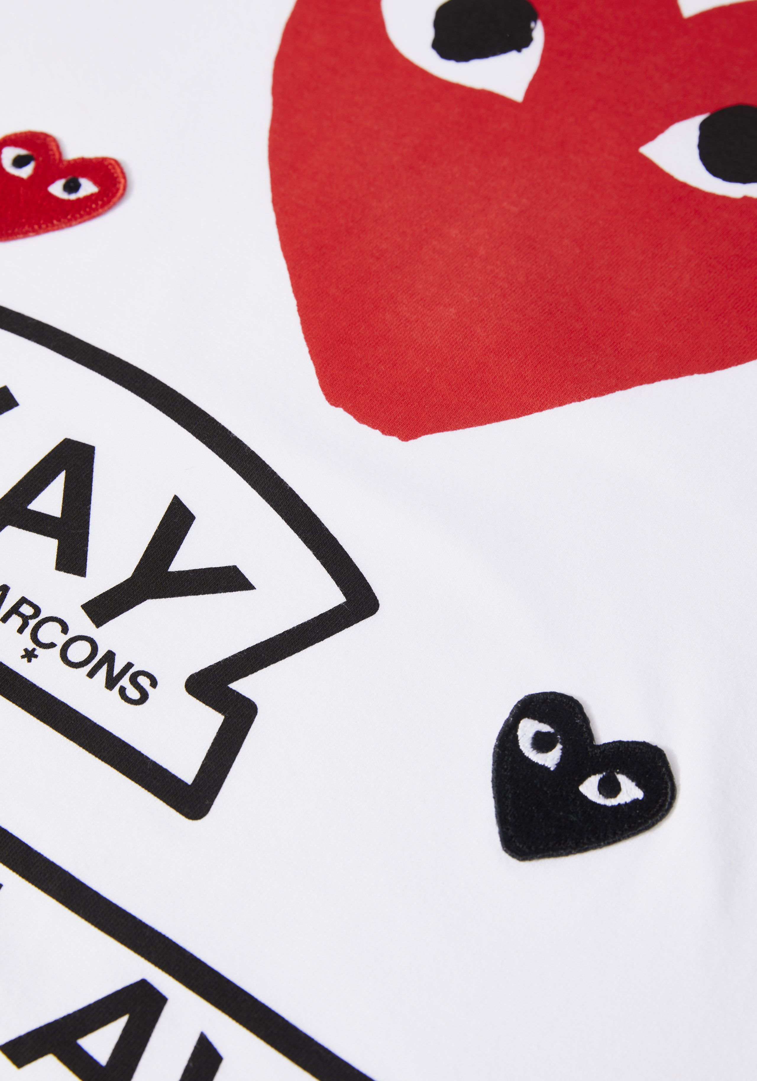 comme des garcons play GRAPHIC red heart tee 3