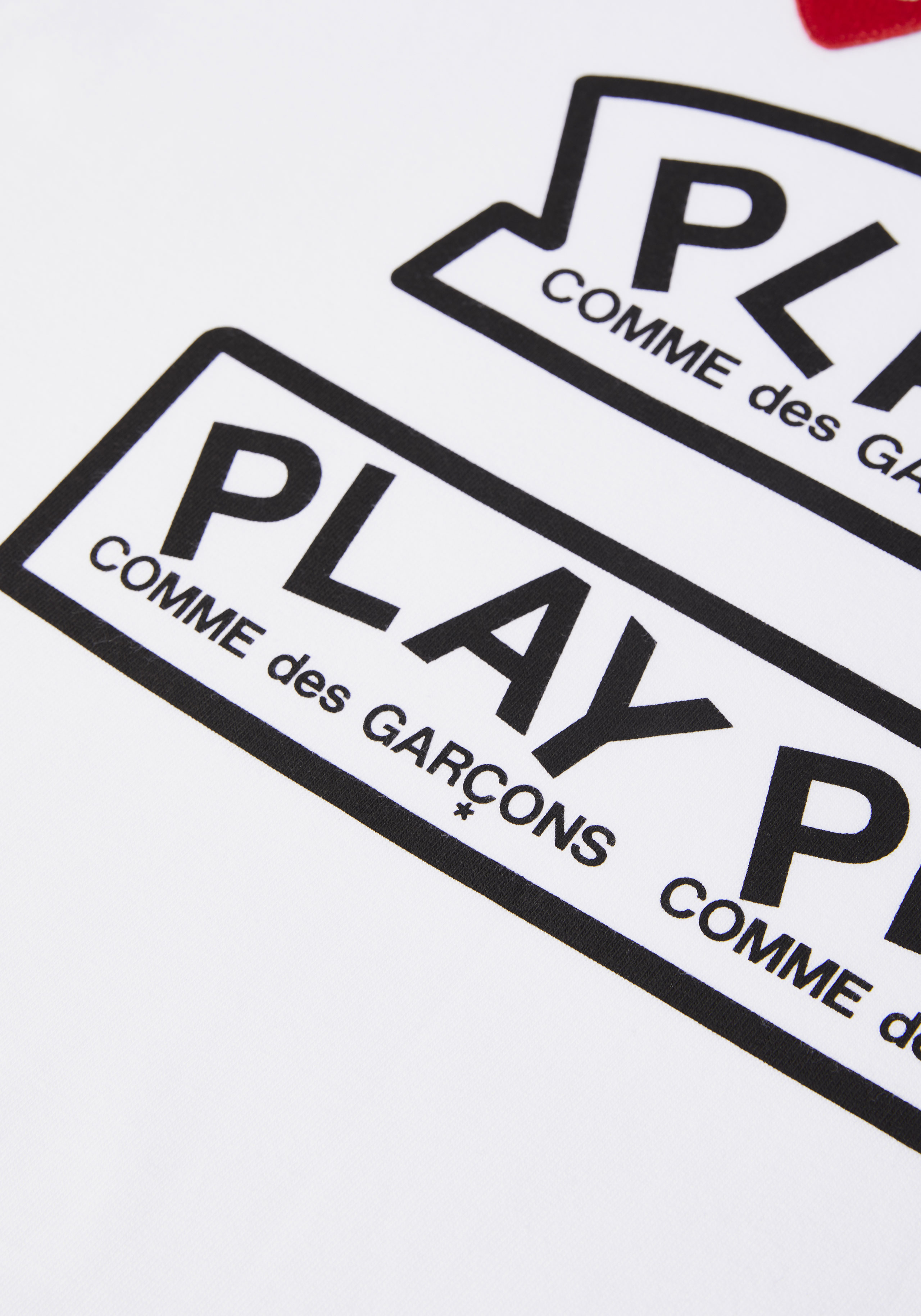 comme des garcons play GRAPHIC red heart tee 4