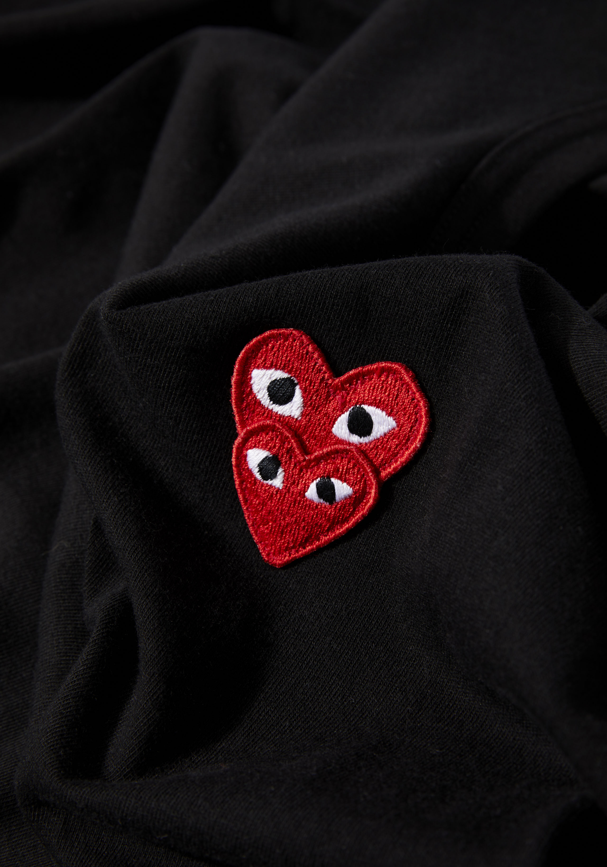 comme des garcons play LAYERED red heart tee 4