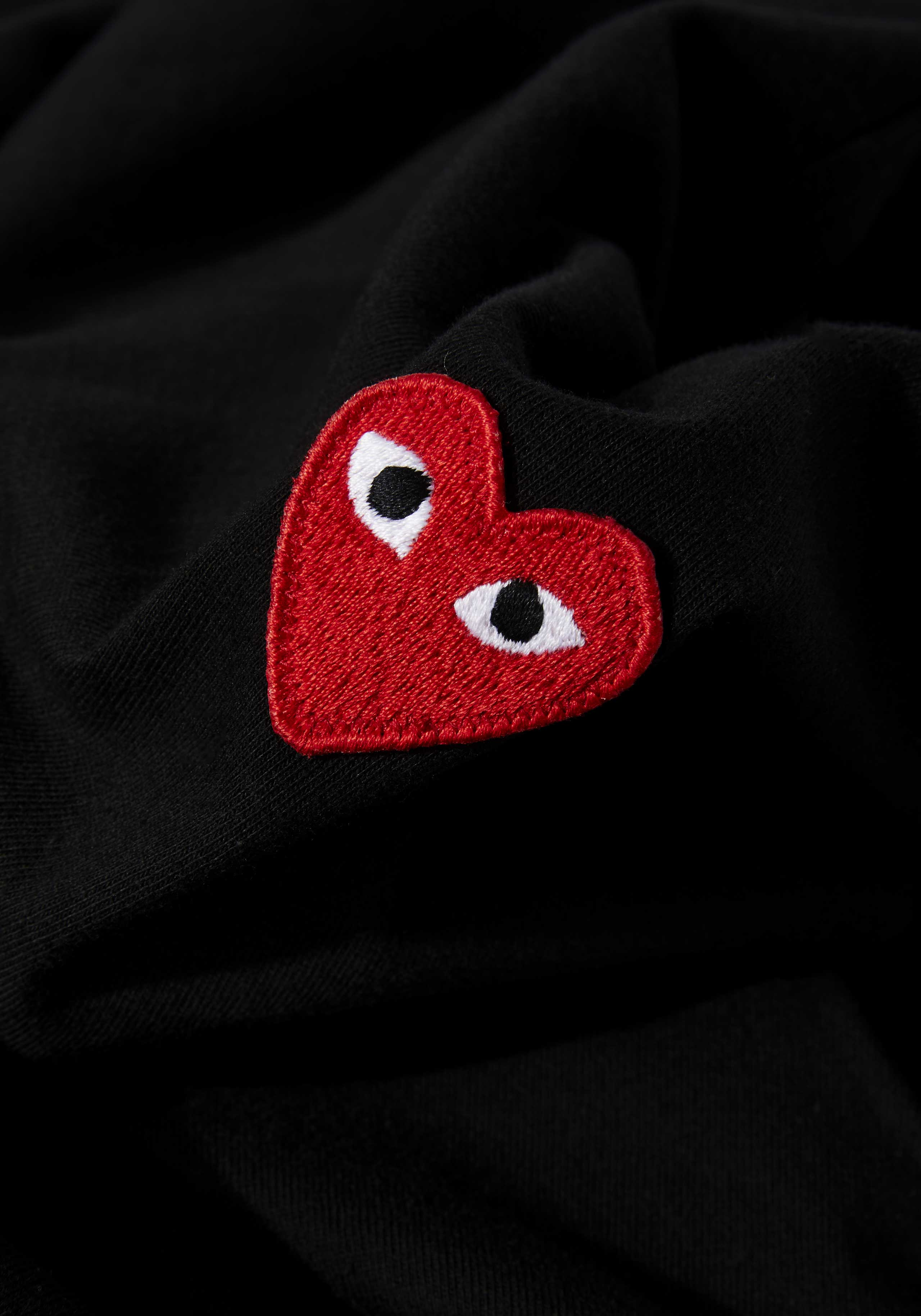 comme des garcons play red heart long sleeve 5