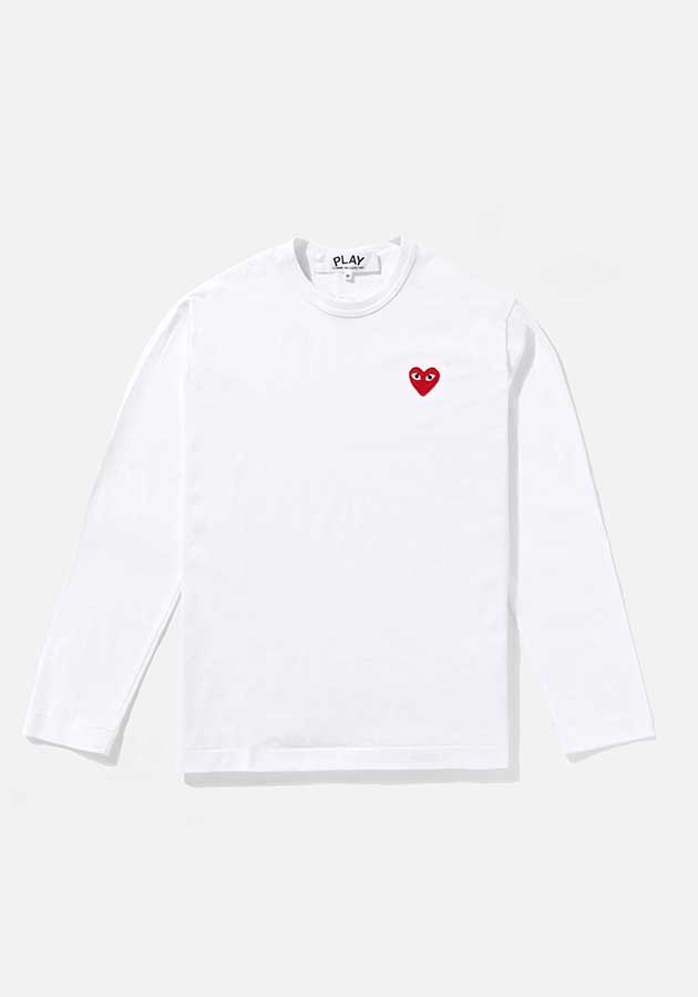 comme des garcons play red heart long sleeve