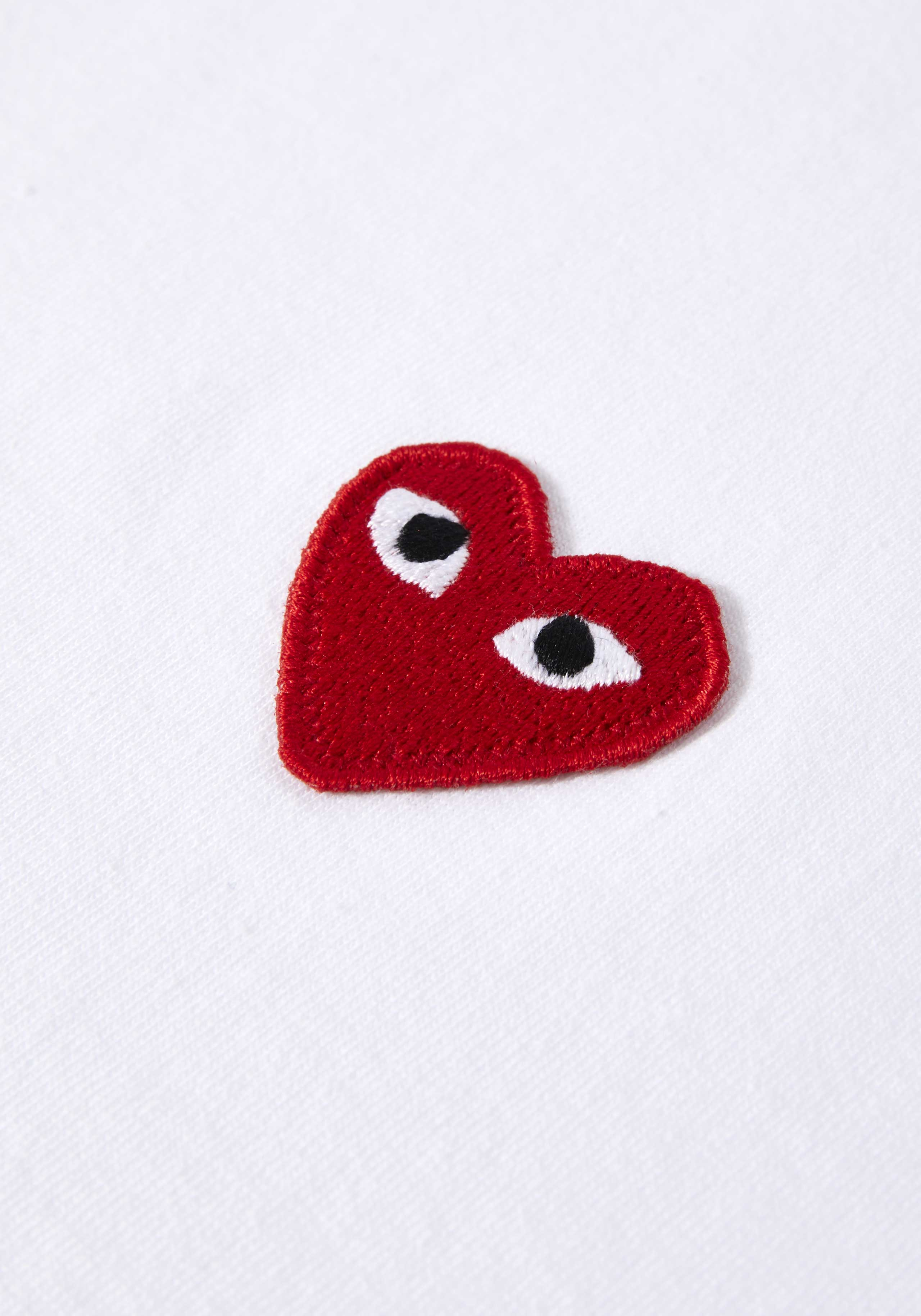 comme des garcons play red heart tee 4