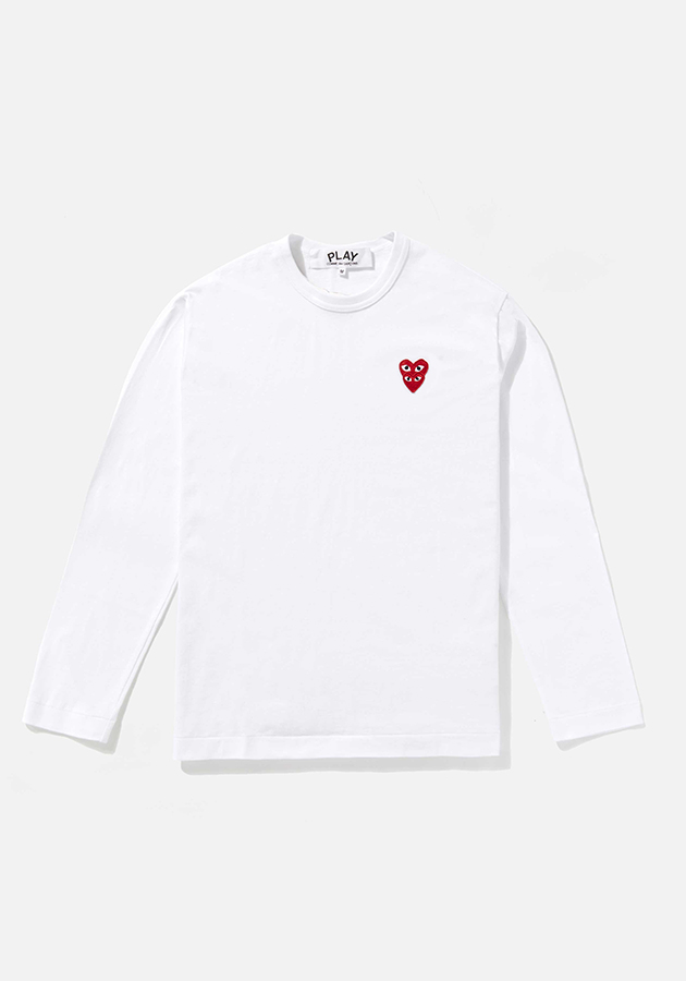 comme des garcons play LAYERED RED heart long sleeve