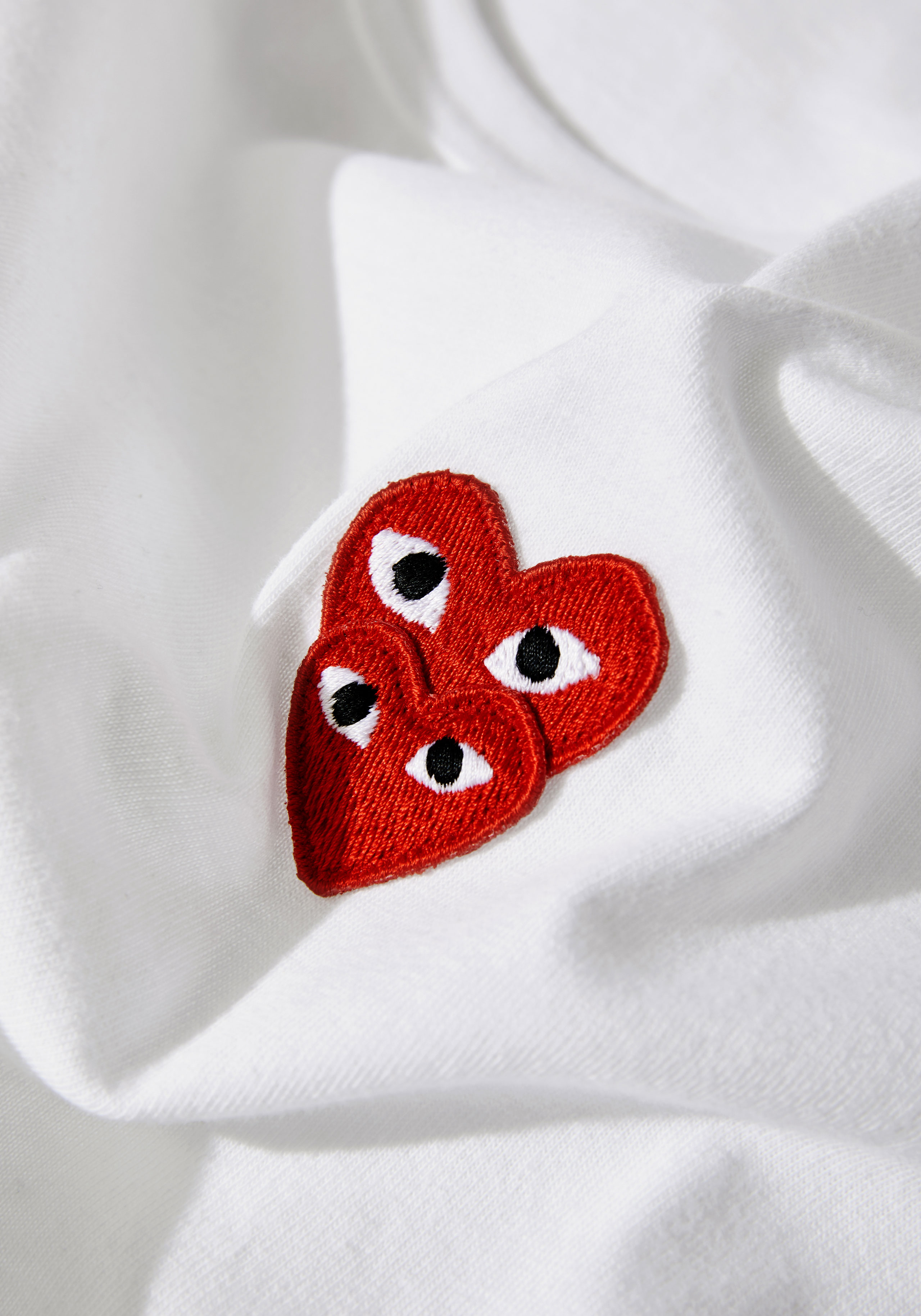 comme des garcons play LAYERED RED heart long sleeve 4