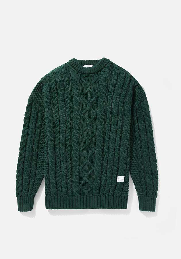 mki aran knit sweater